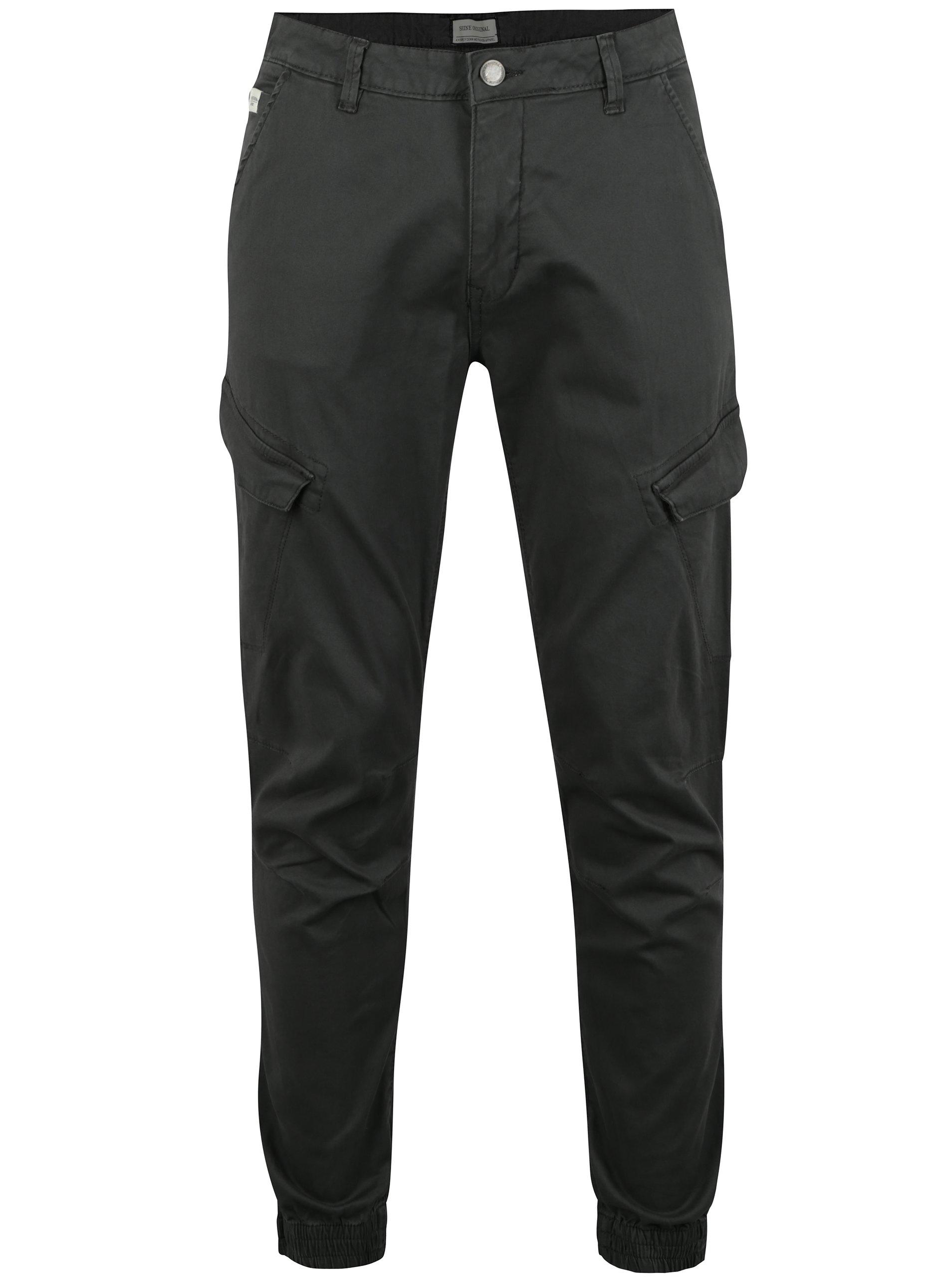 Tmavě šedé kalhoty s kapsami Shine Original