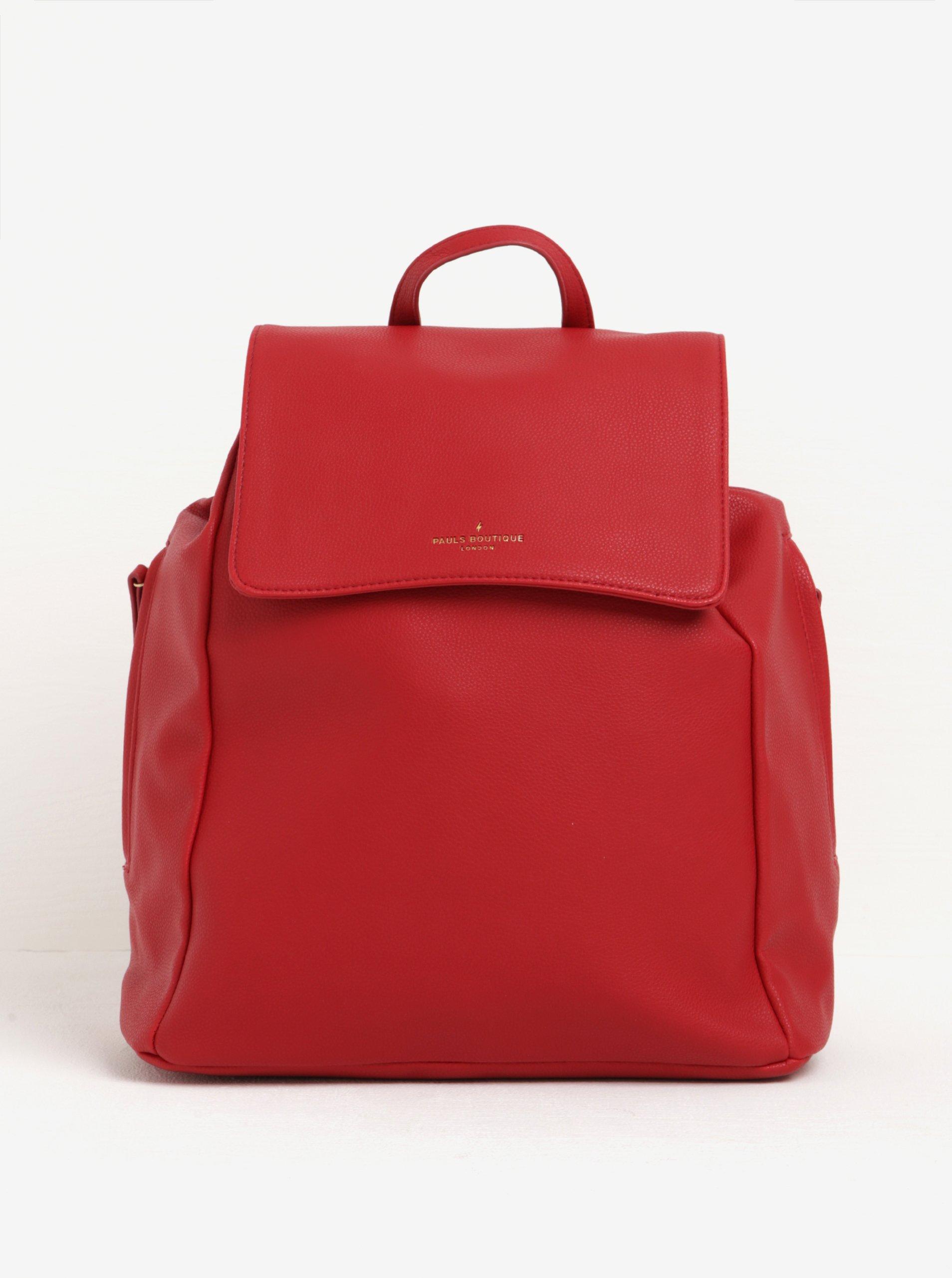 Červený veľký batoh s jemným vzorom Paul's Boutique Celine