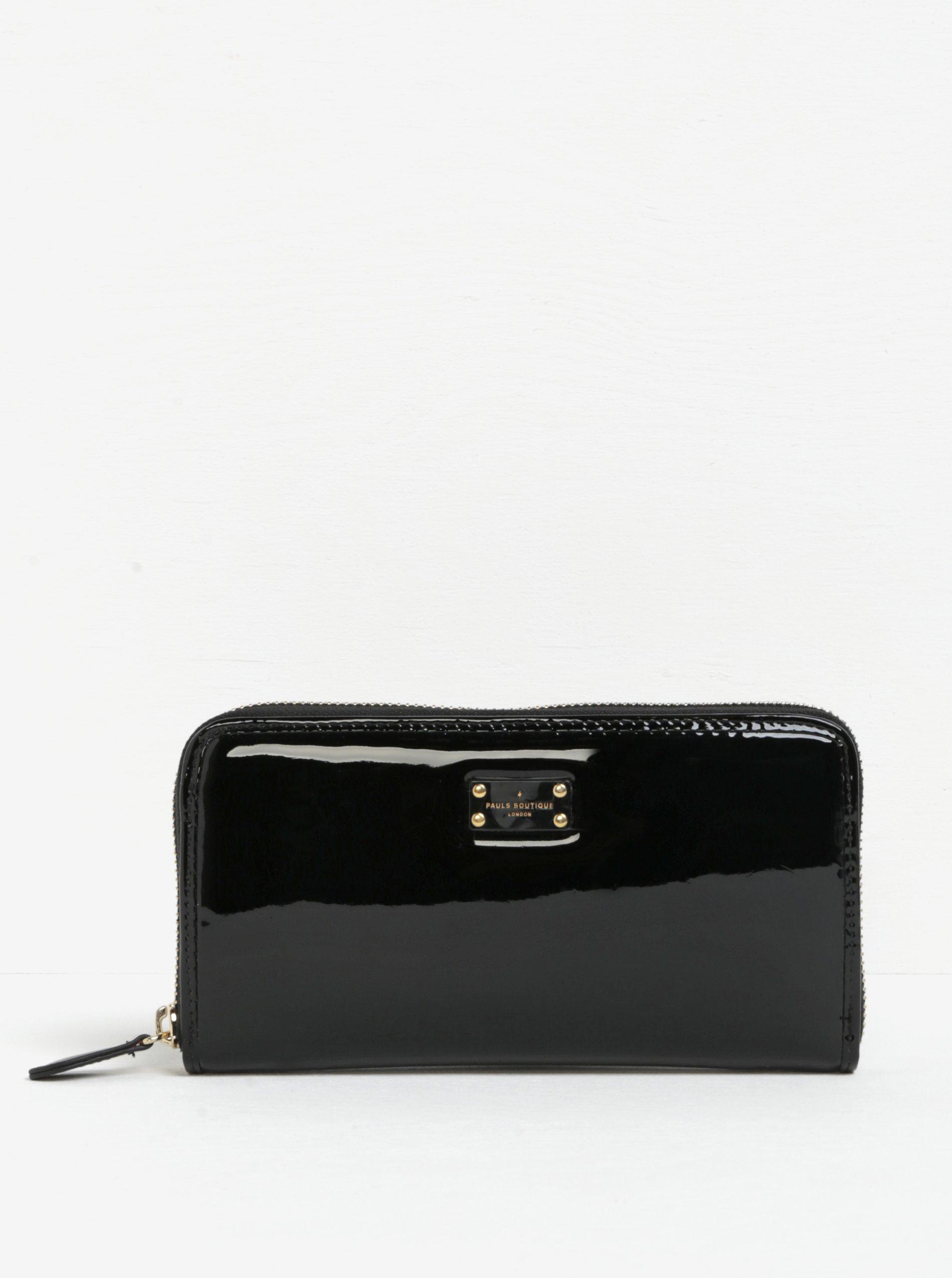 Černá lesklá peněženka s neonovým vnitřkem Paul's Boutique Lizzie