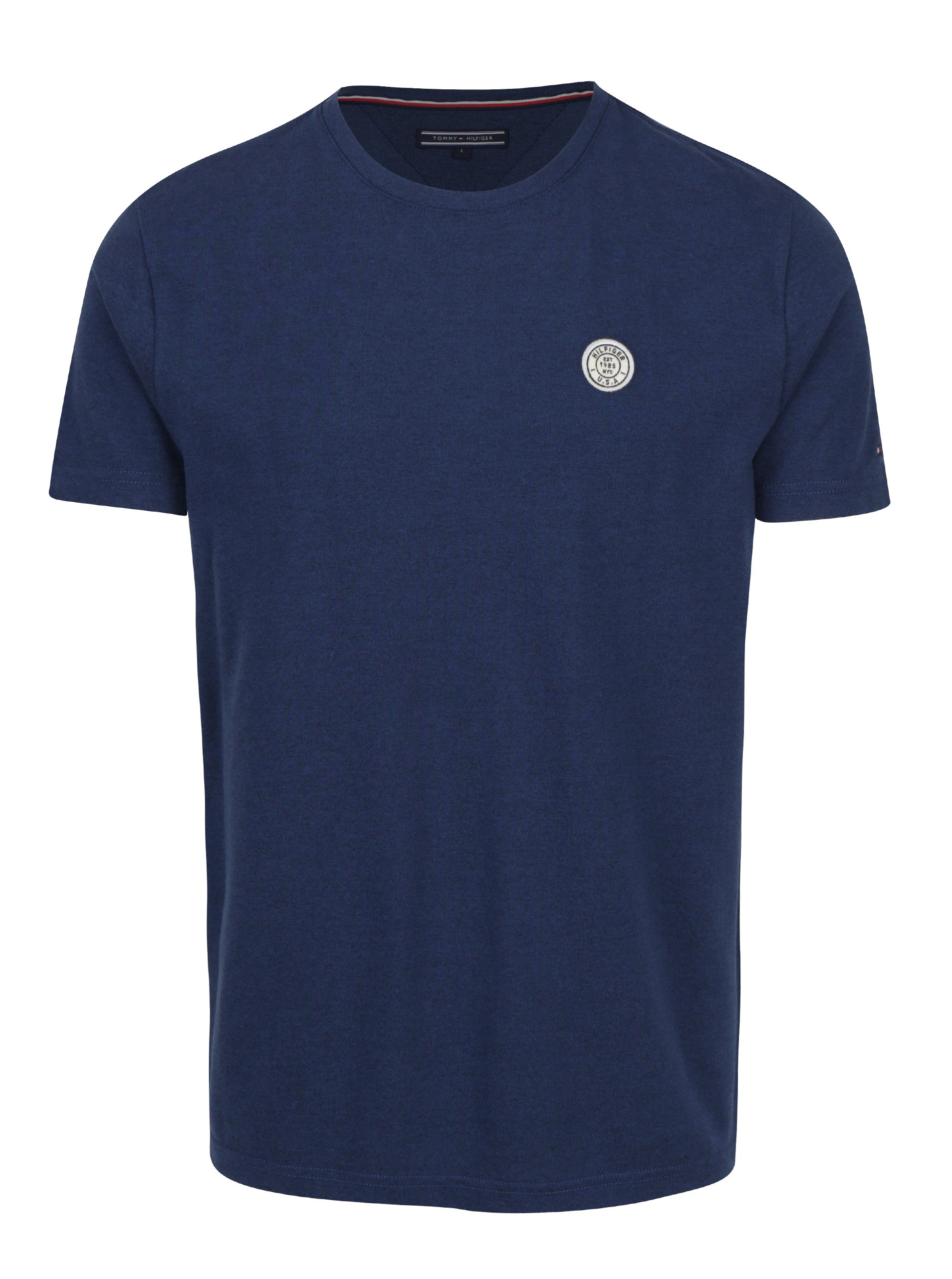 Modré pánské tričko Tommy Hilfiger Pando