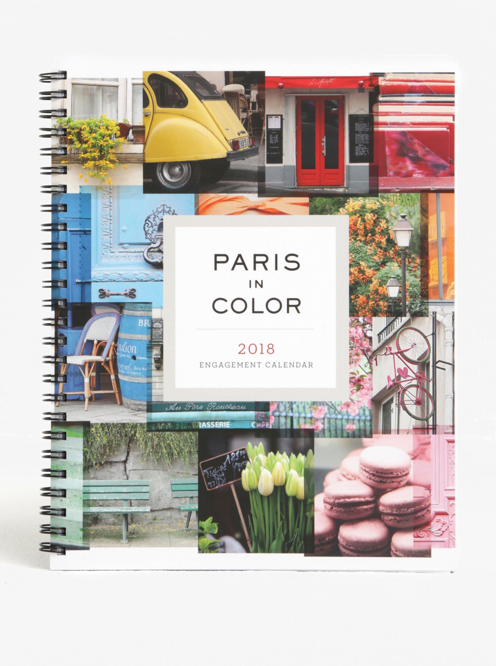 Diář s motivy Paříže pro rok 2018 Chronicle Paris