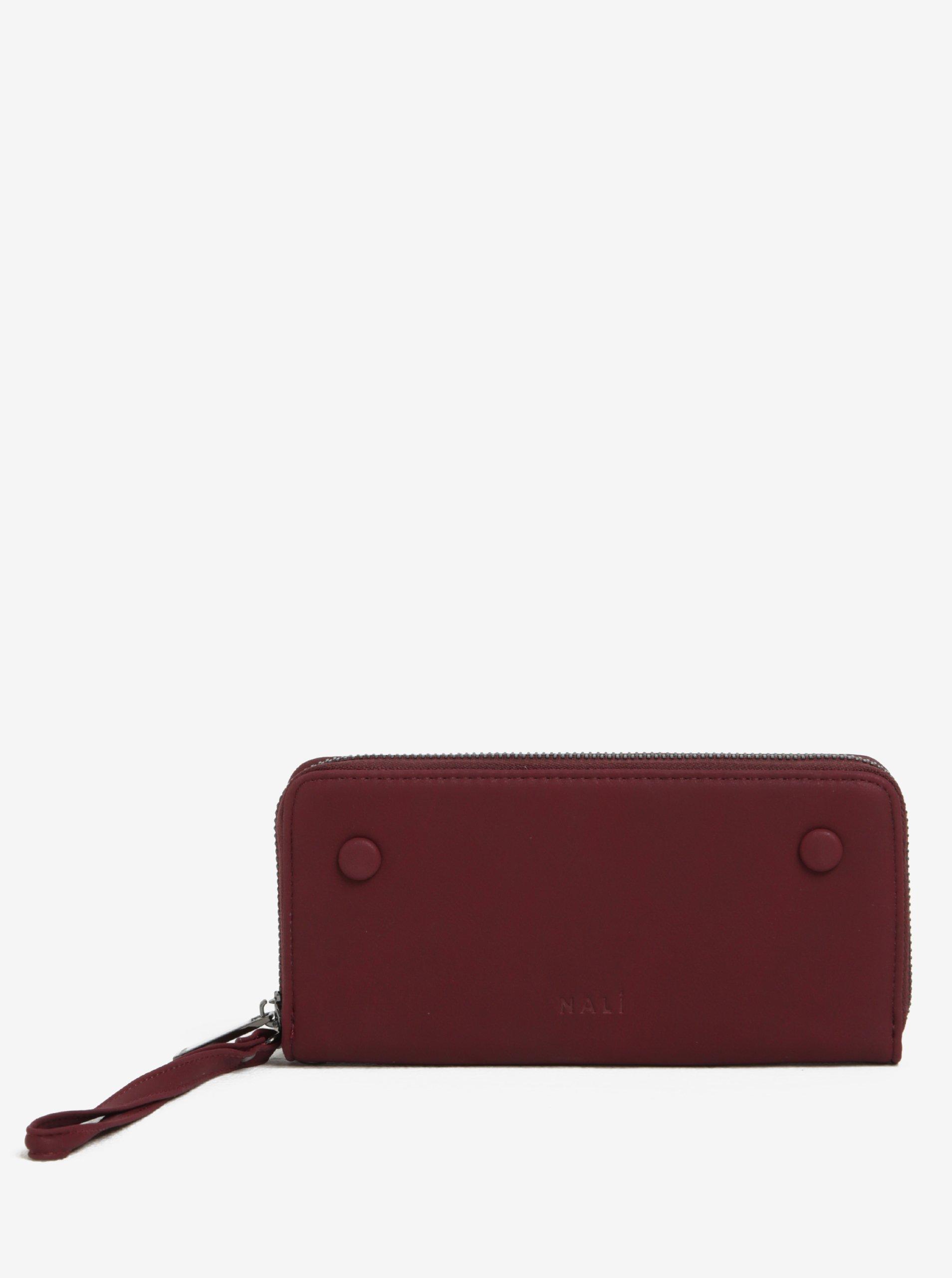 Vínová peněženka na zip Nalí