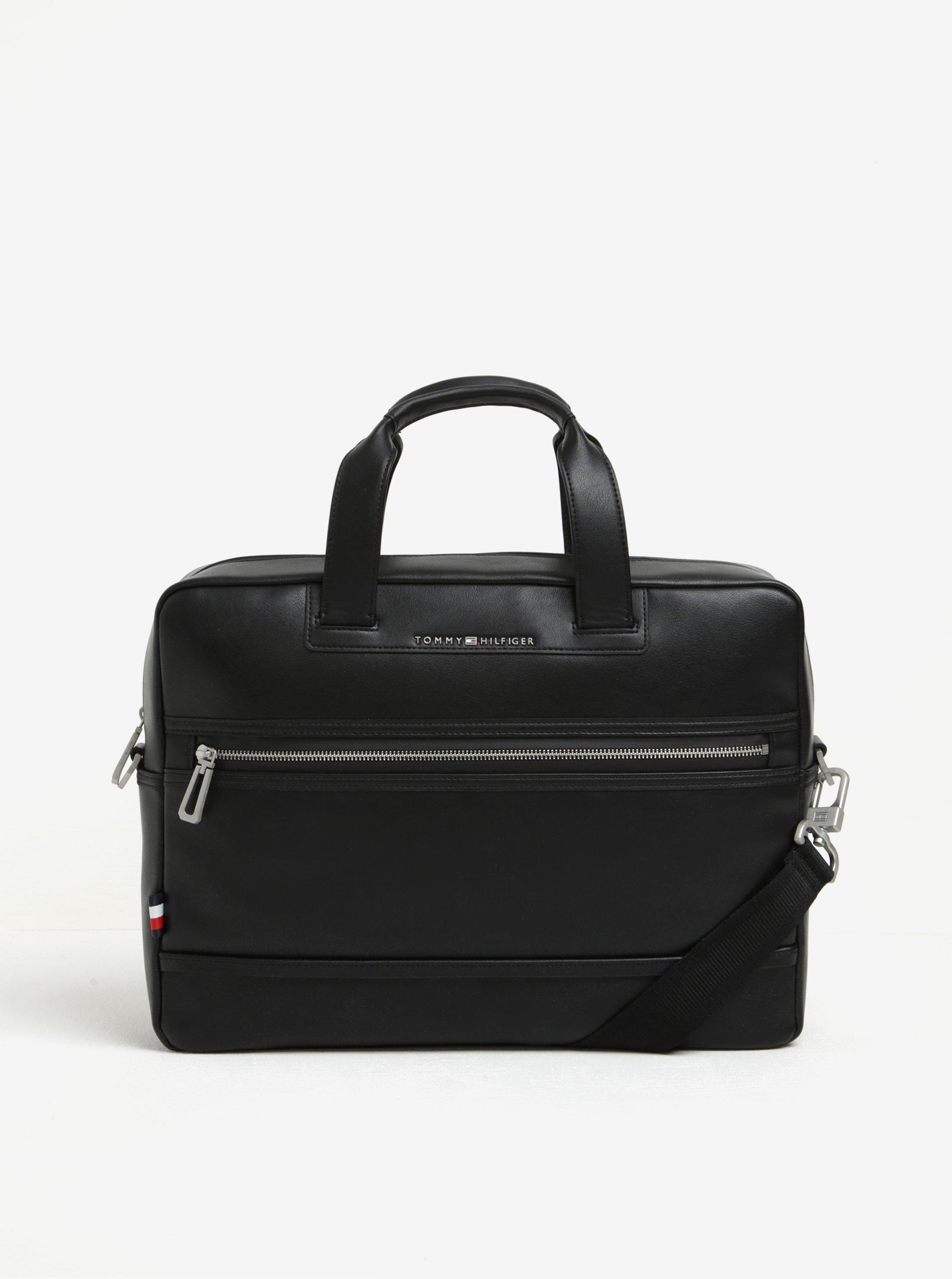 Černá pánská taška na notebook Tommy Hilfiger The City
