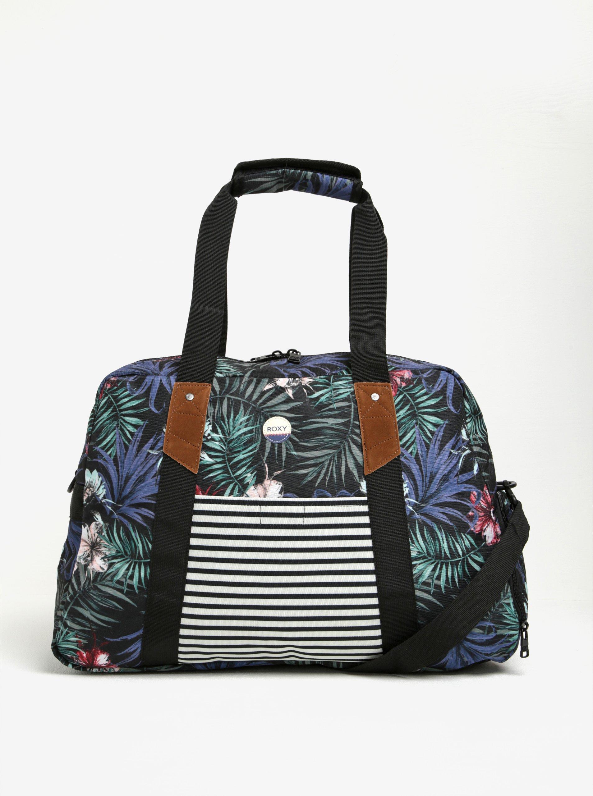 Černá vzorovaná crossbody taška Roxy Sugar It Up 29 l