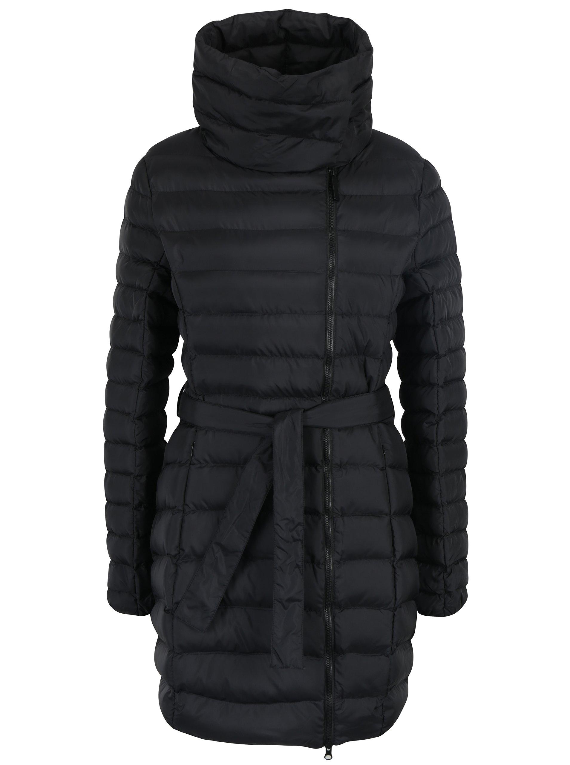 Černý voděodpudivý prošívaný dámský kabát LOAP Ikona