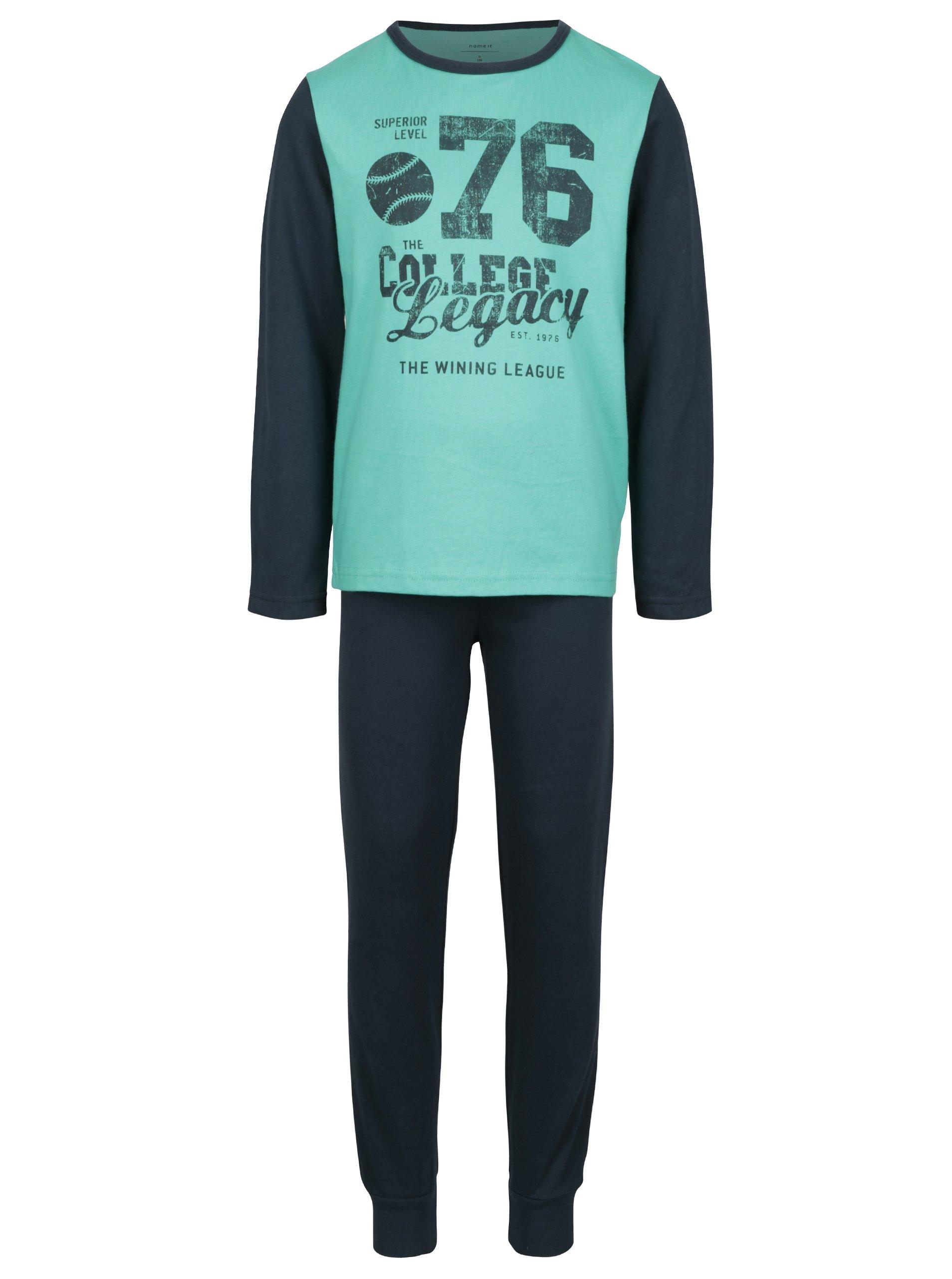 Zeleno-modré chlapčenské pyžamo s potlačou name it