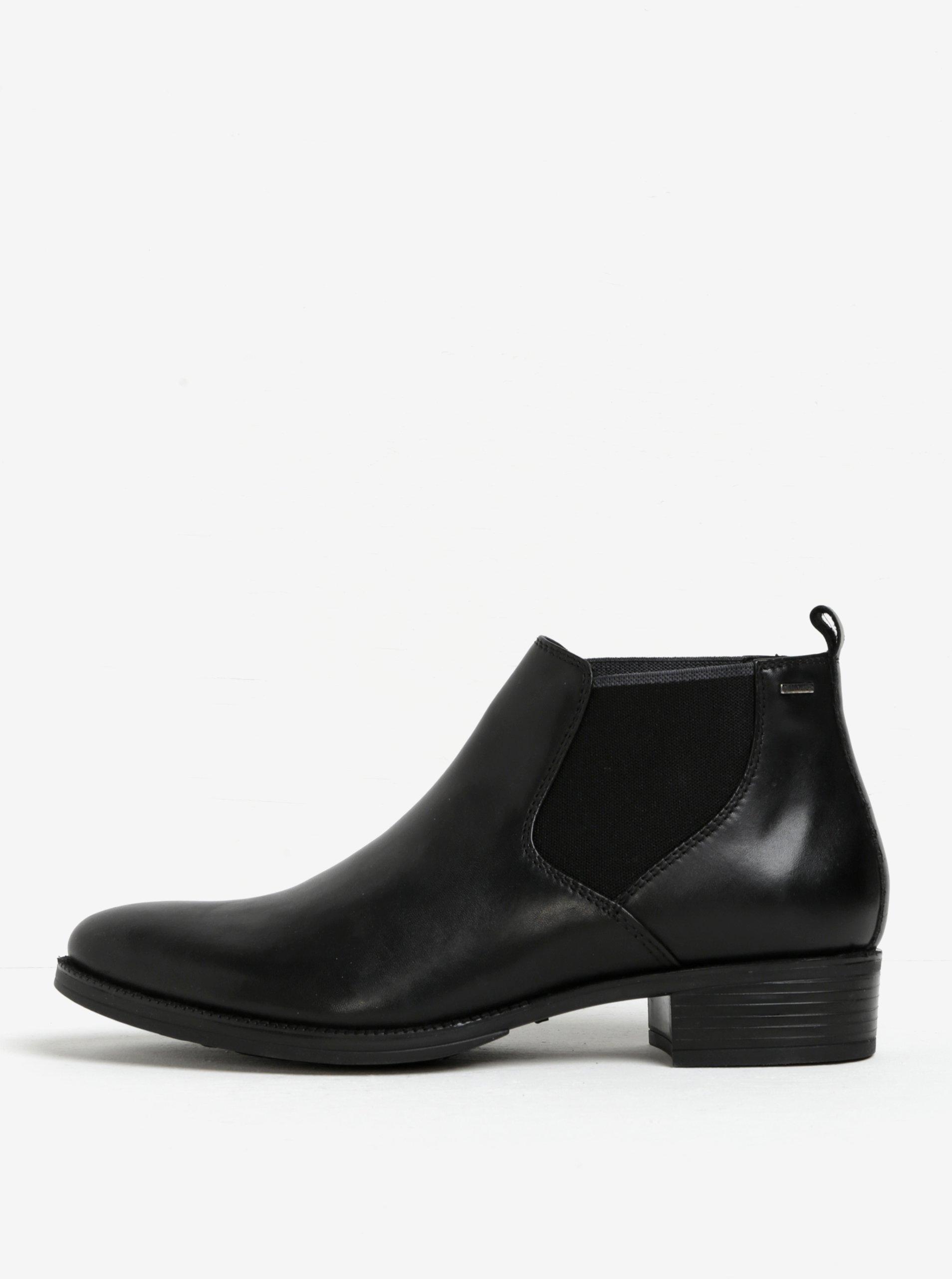 Černé dámské kožené chelsea boty Geox Mendi