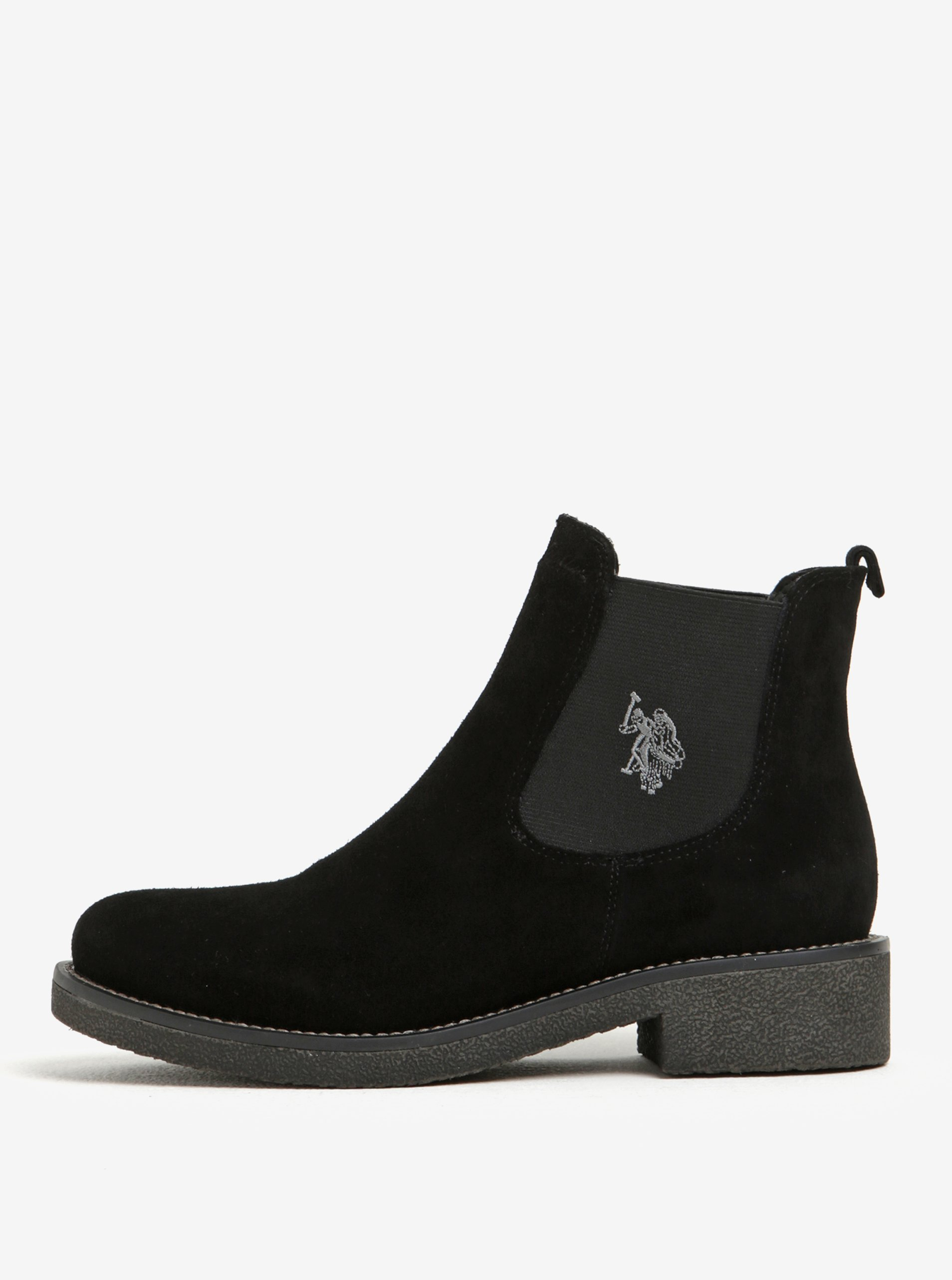 Černé semišové chelsea boty U.S. Polo Assn.