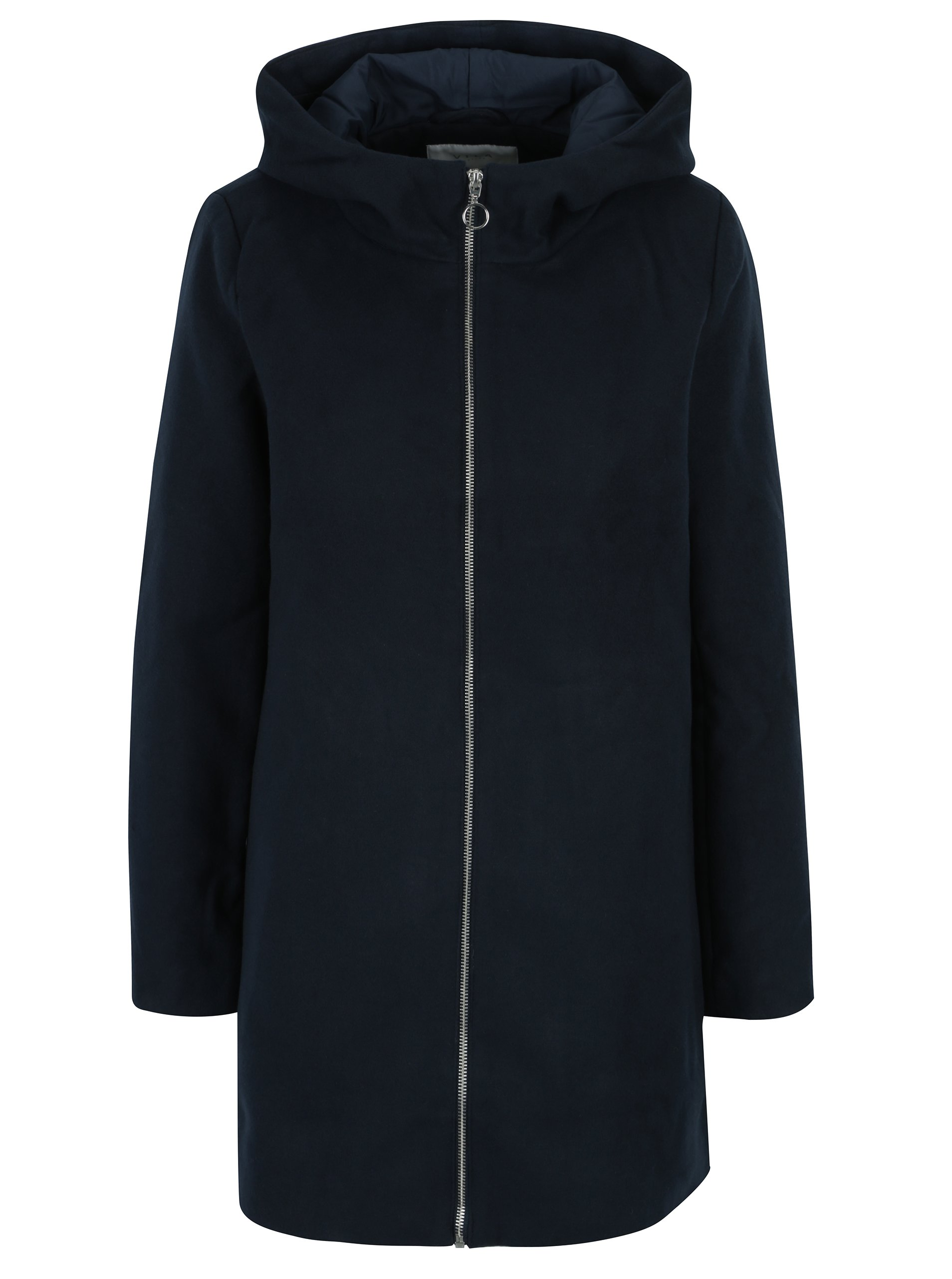 Tmavě modrý kabát s kapucí VILA Daniella
