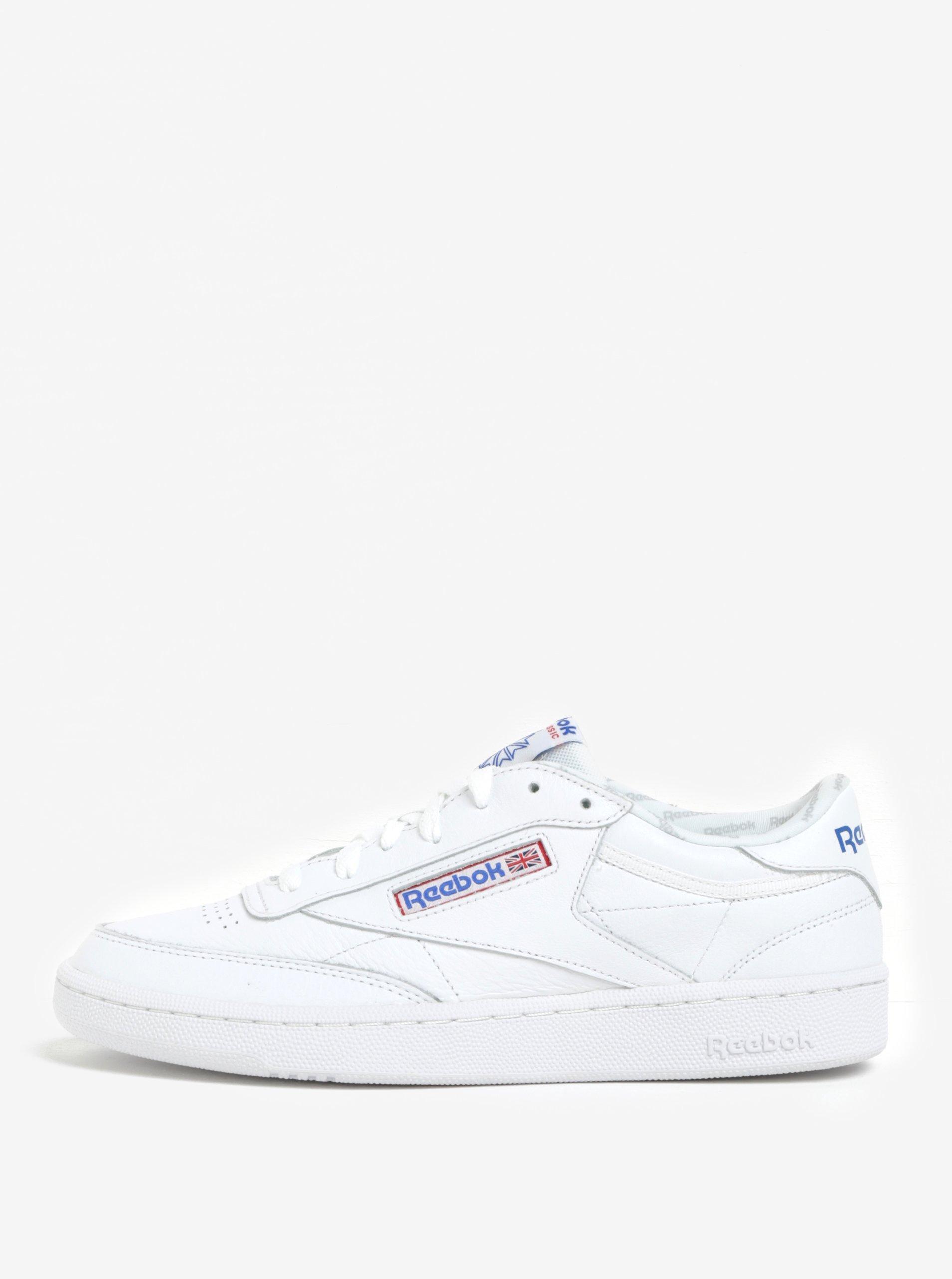 Bílé pánské kožené tenisky Reebok