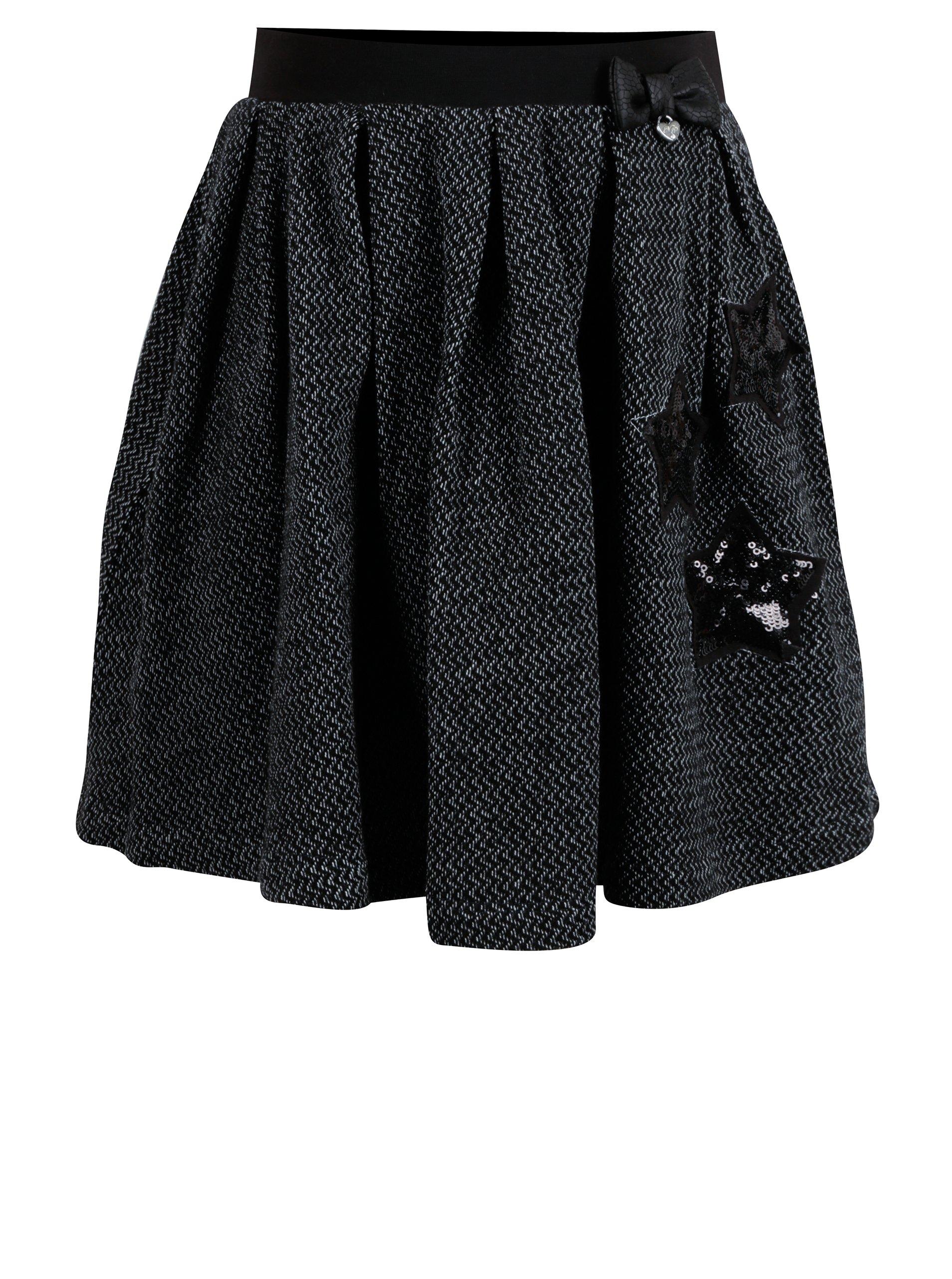 Bílo-černá holčičí vzorovaná sukně North Pole Kids