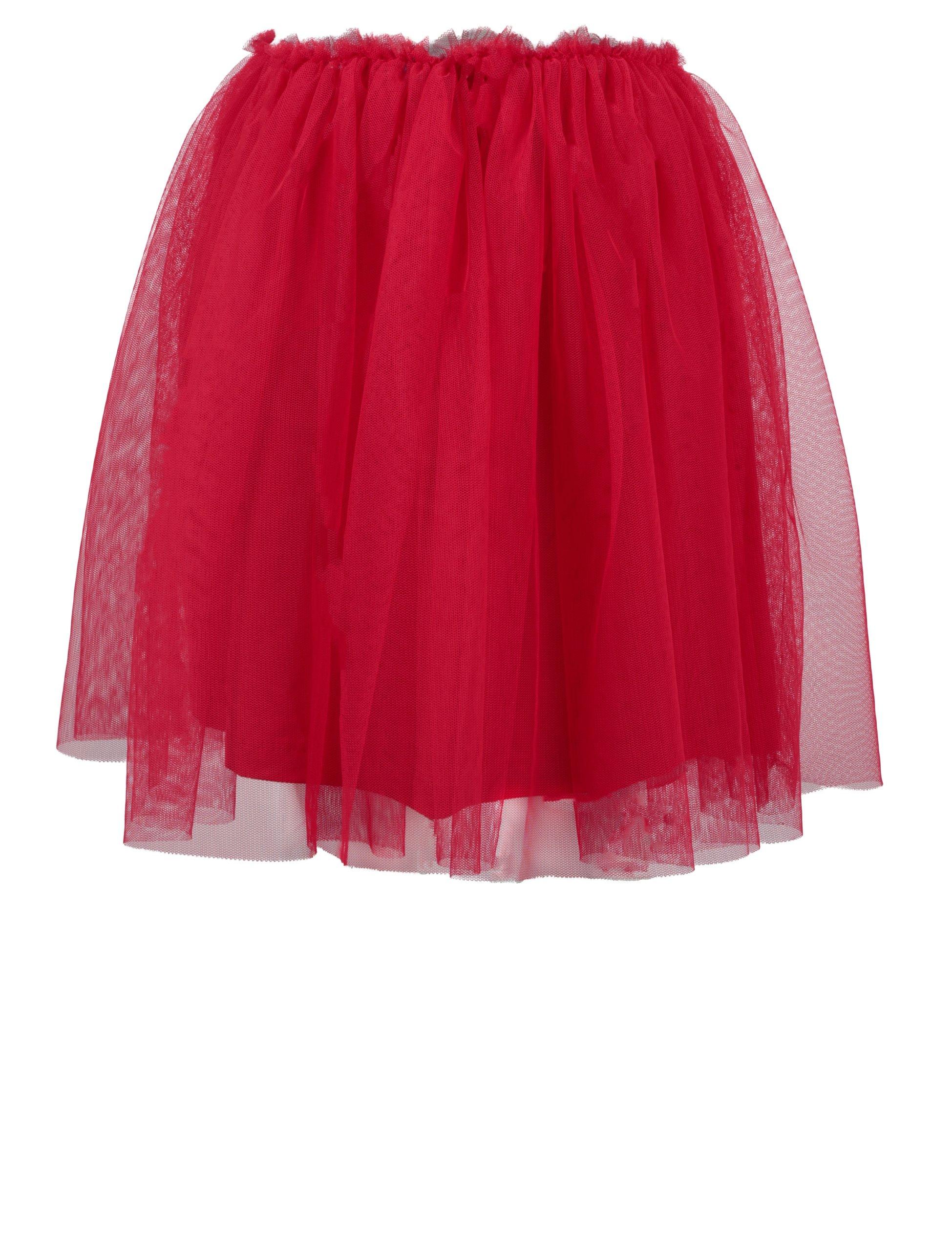 Červená holčičí tylová sukně North Pole Kids