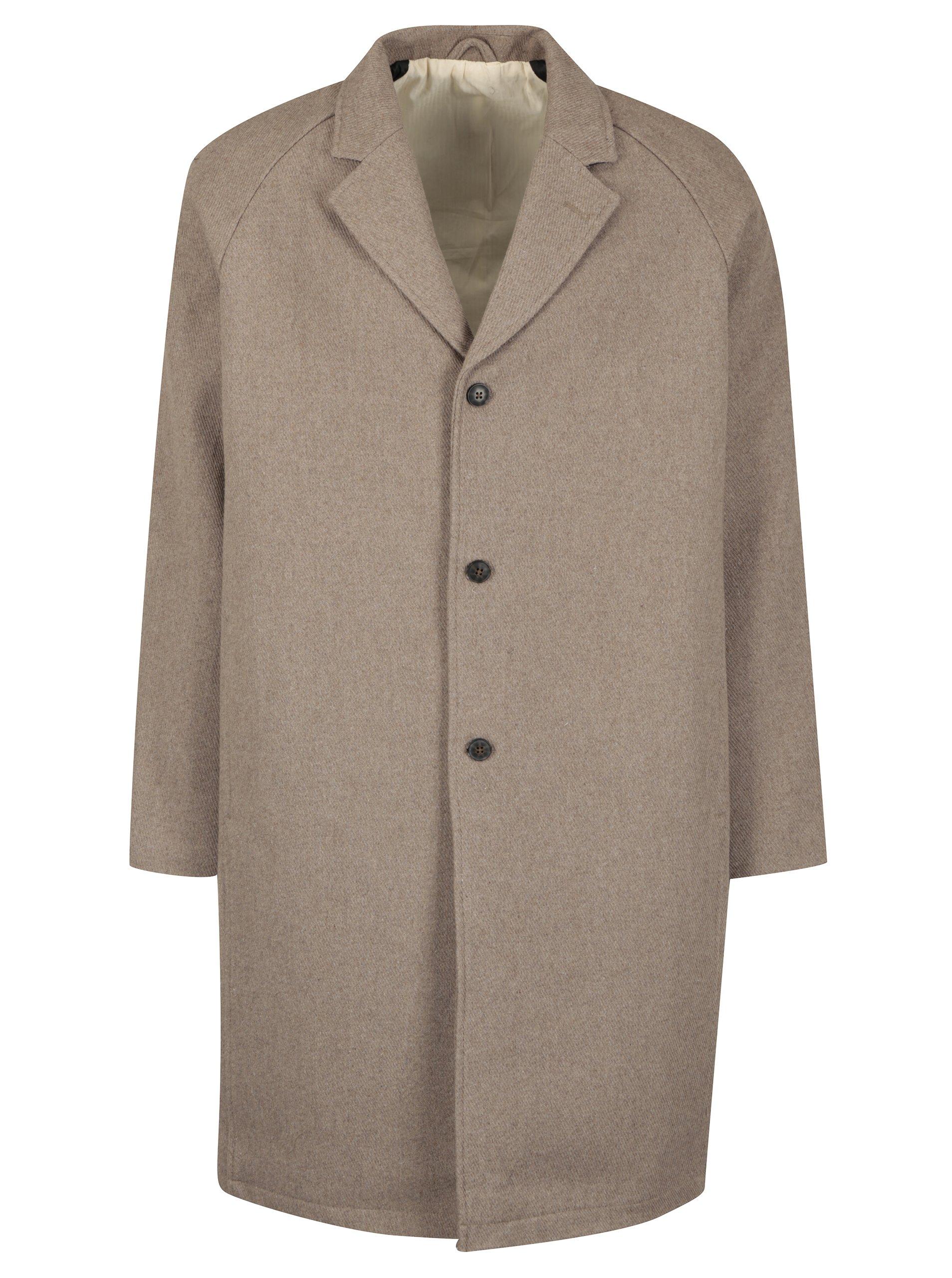 Béžový kabát s příměsí vlny SUIT Kendrick