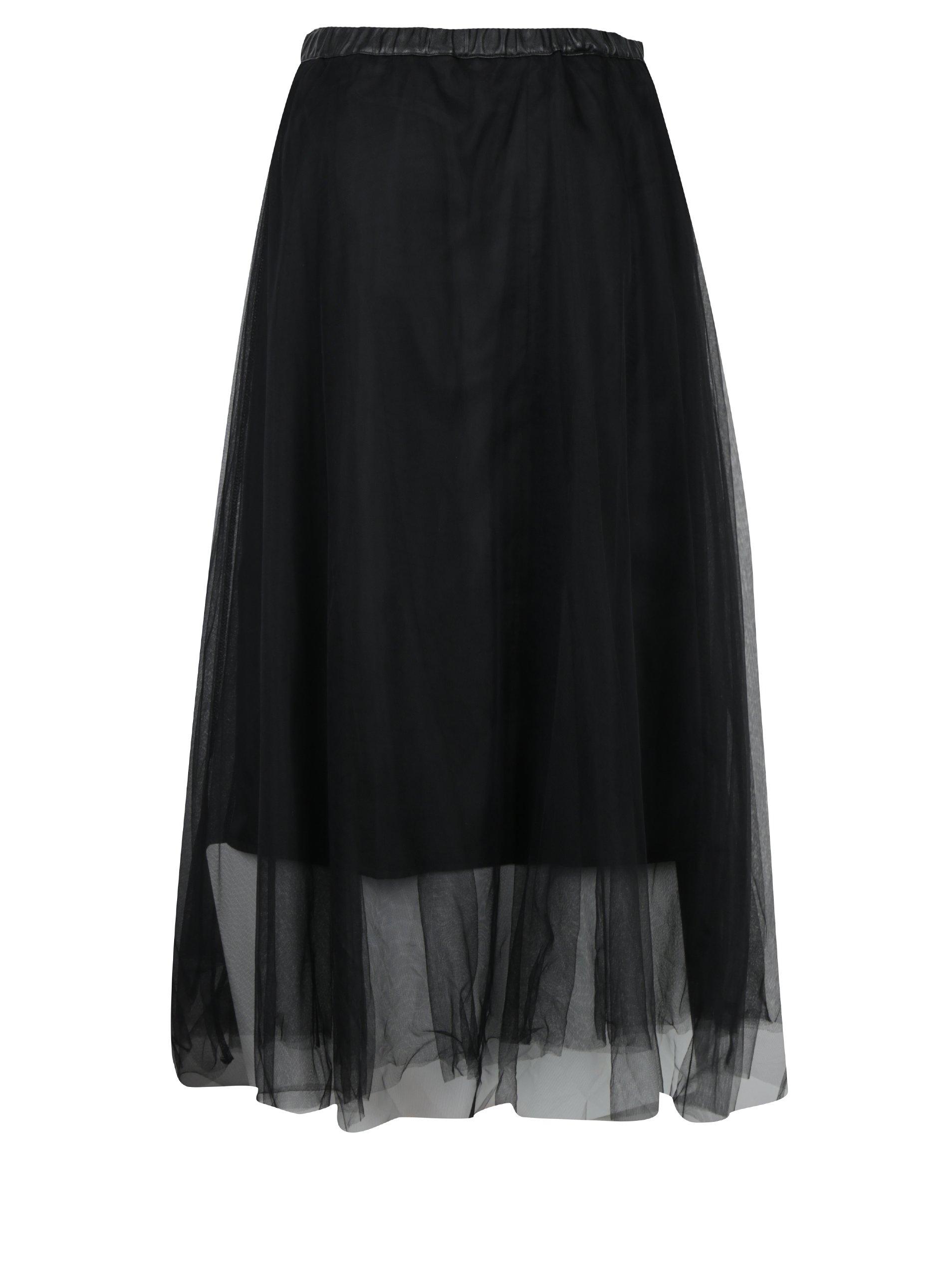 Čierna tylová sukňa s gumou v páse Fornarina Annie