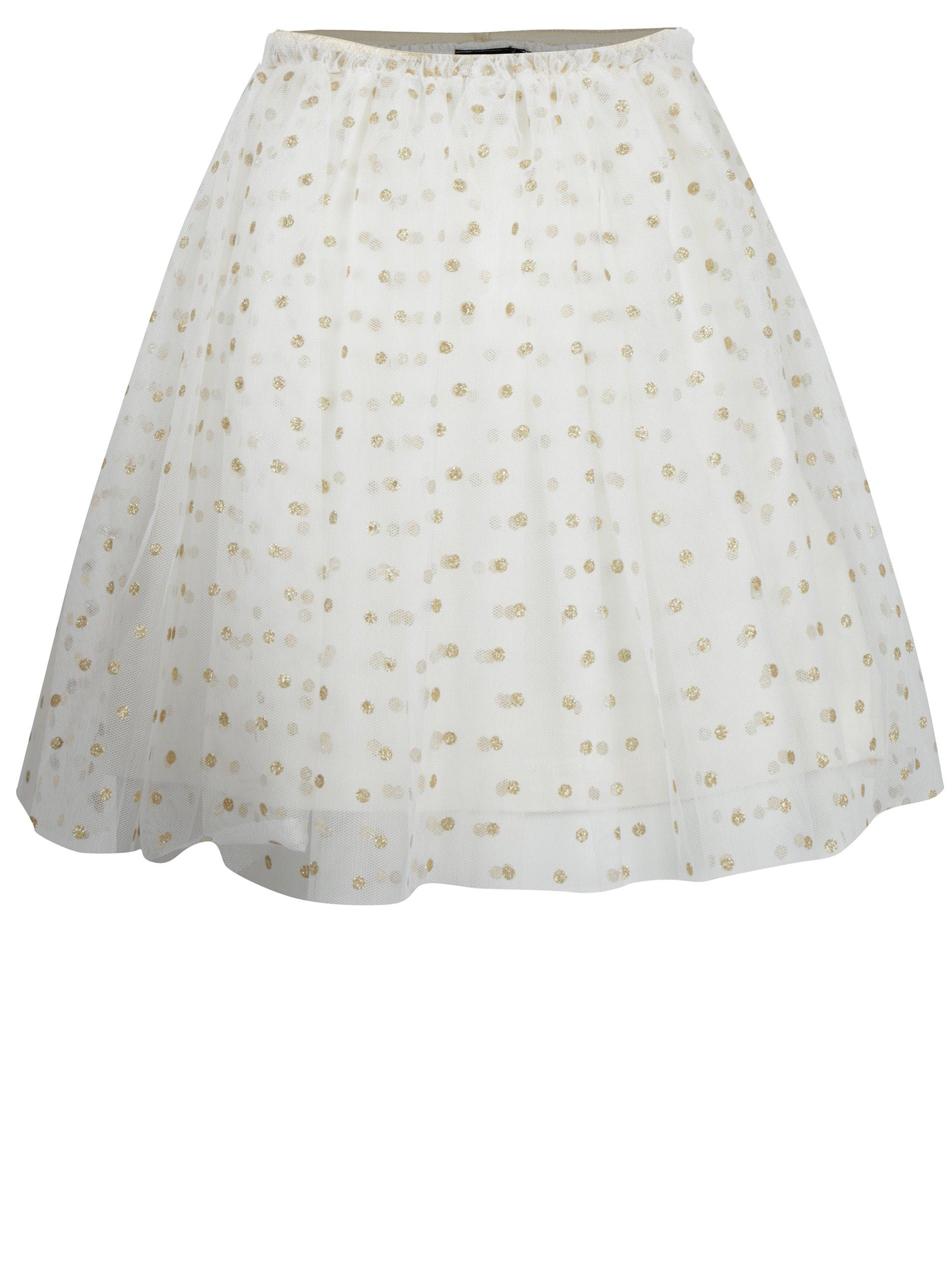 Holčičí tylová sukně v krémovo-zlaté barvě Mix´n Match