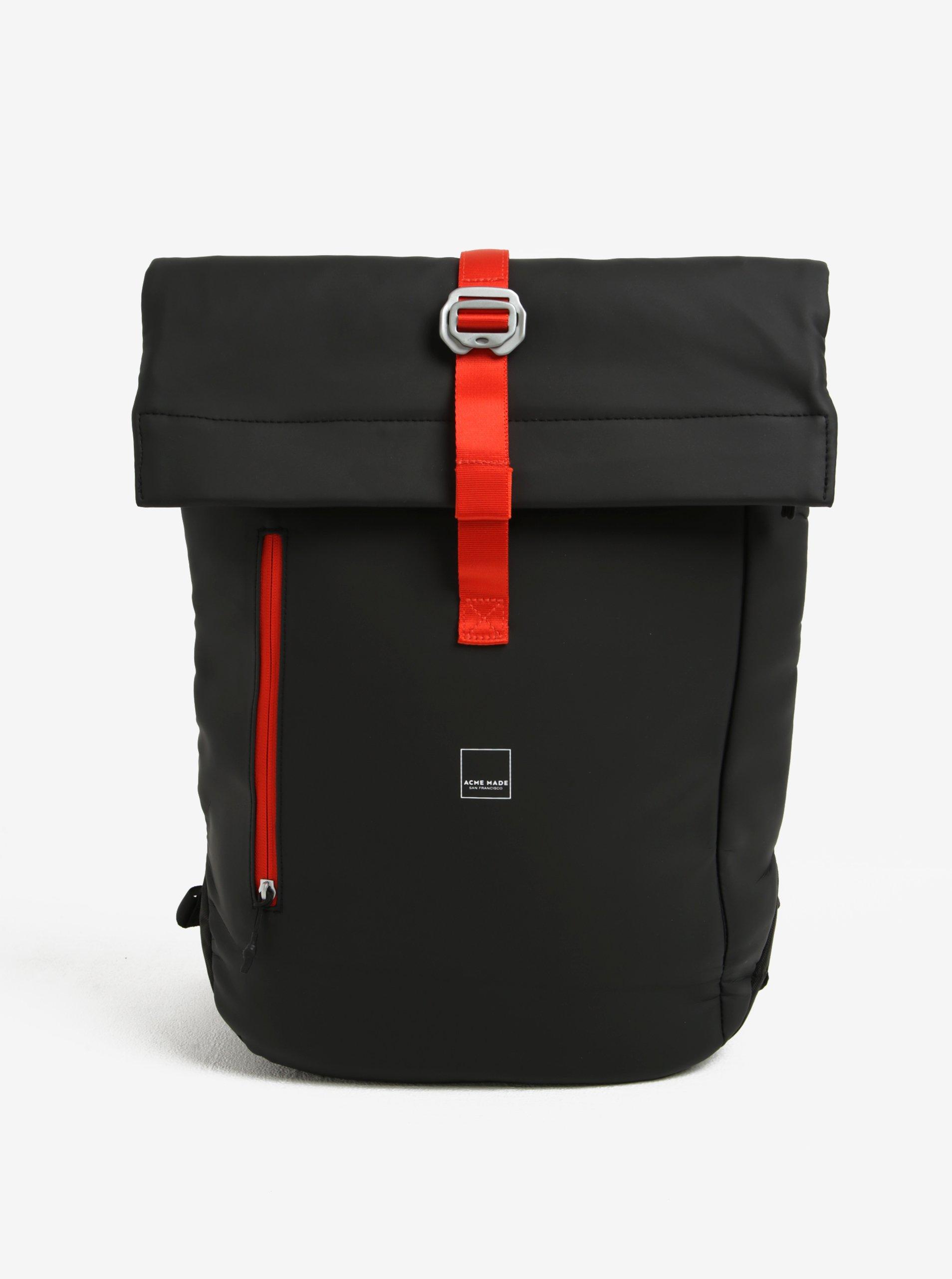 Čierny batoh Acme Made North Point Medium Roll-Top Backpack