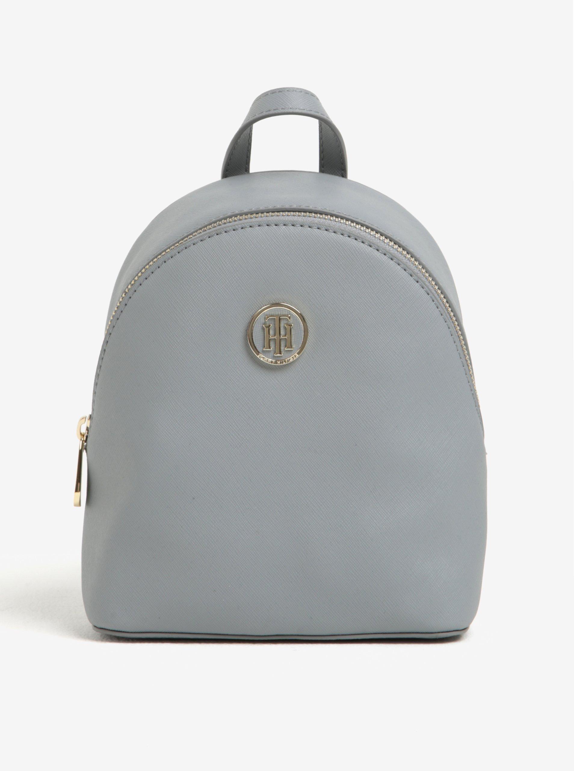 Světle šedý dámský malý batoh Tommy Hilfiger