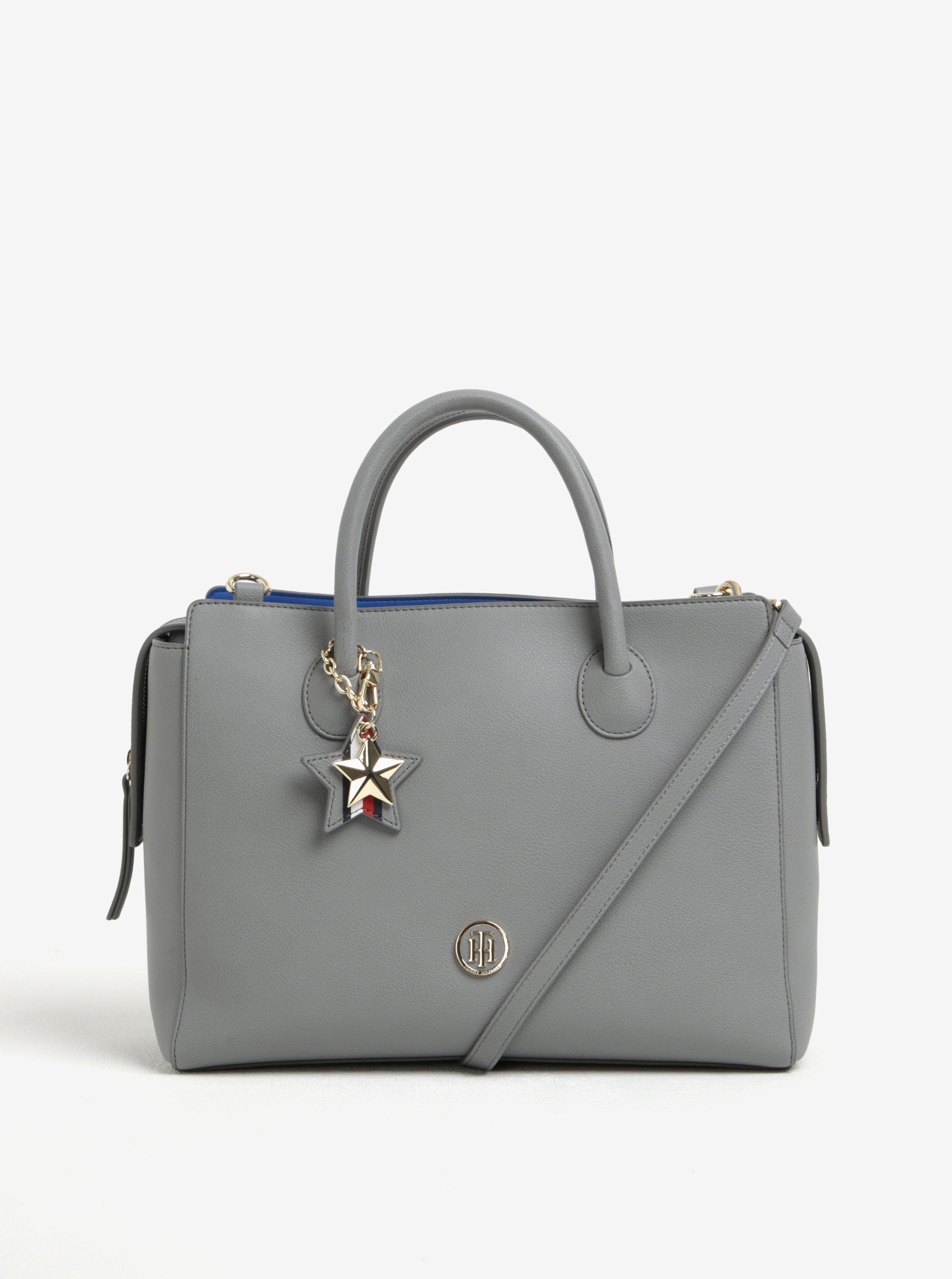 Modro-šedá dámská kabelka s odnímatelným popruhem Tommy Hilfiger