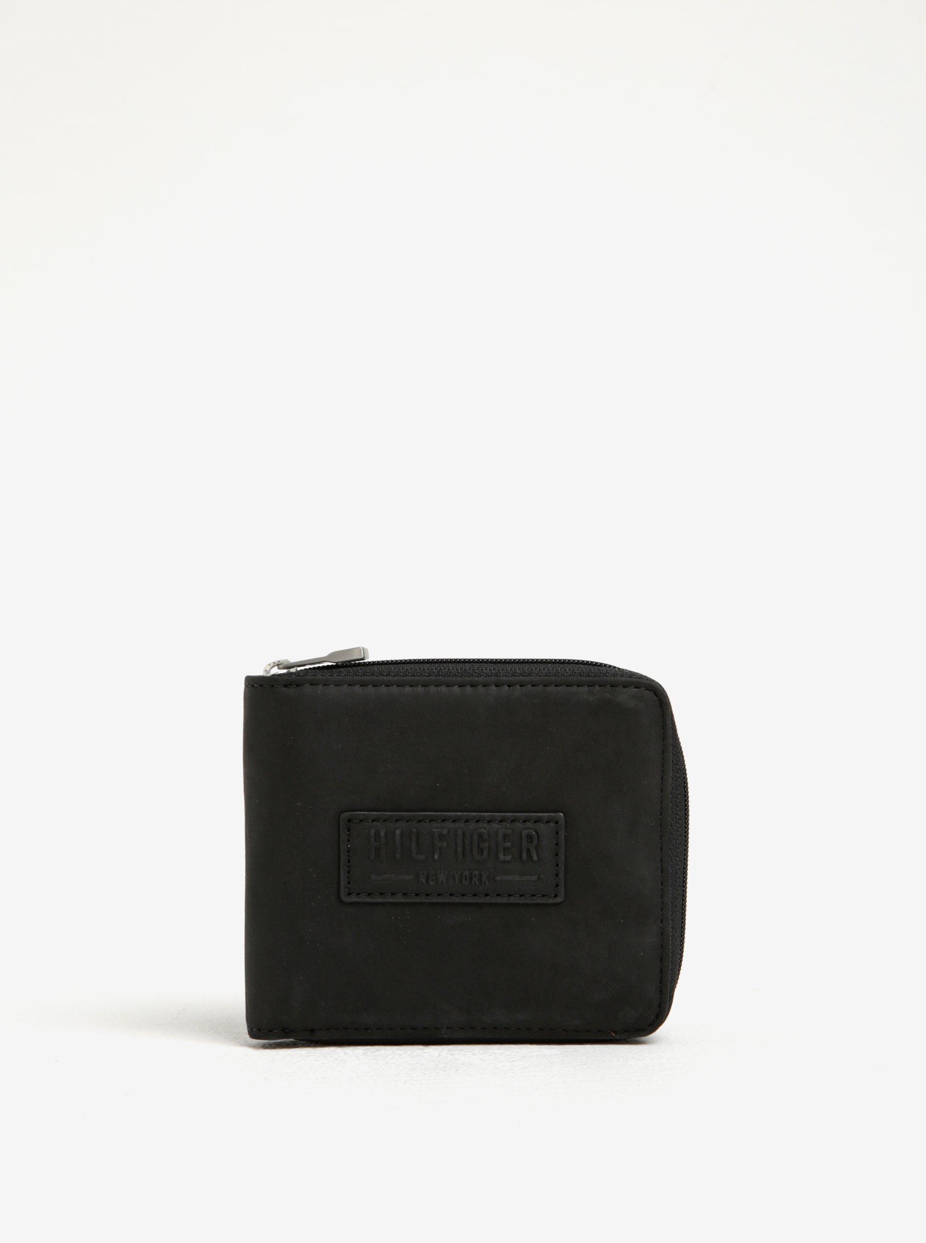 Černá pánská kožená peněženka s logem Tommy Hilfiger