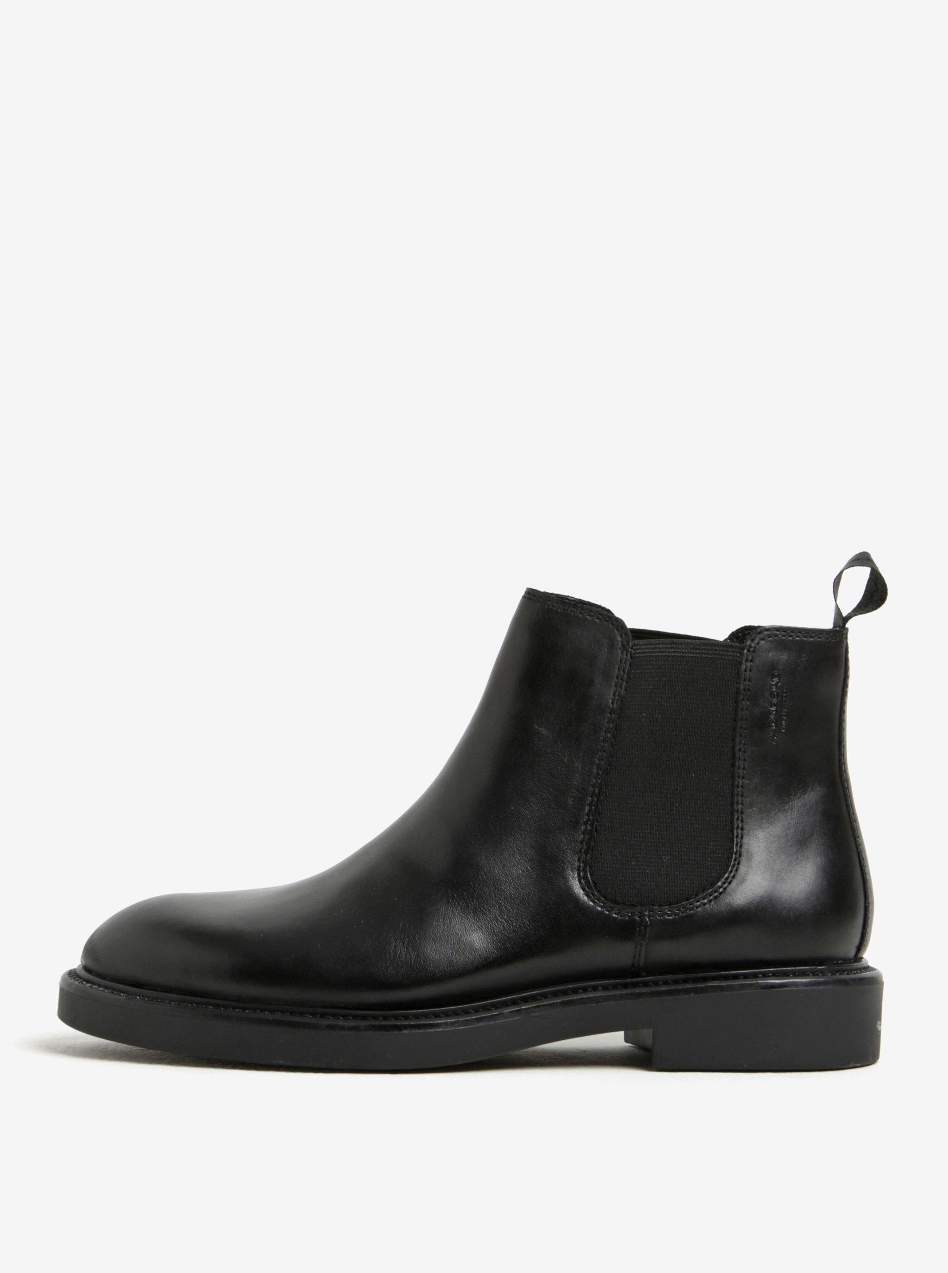 Černé dámské kožené chelsea boty Vagabond Alex