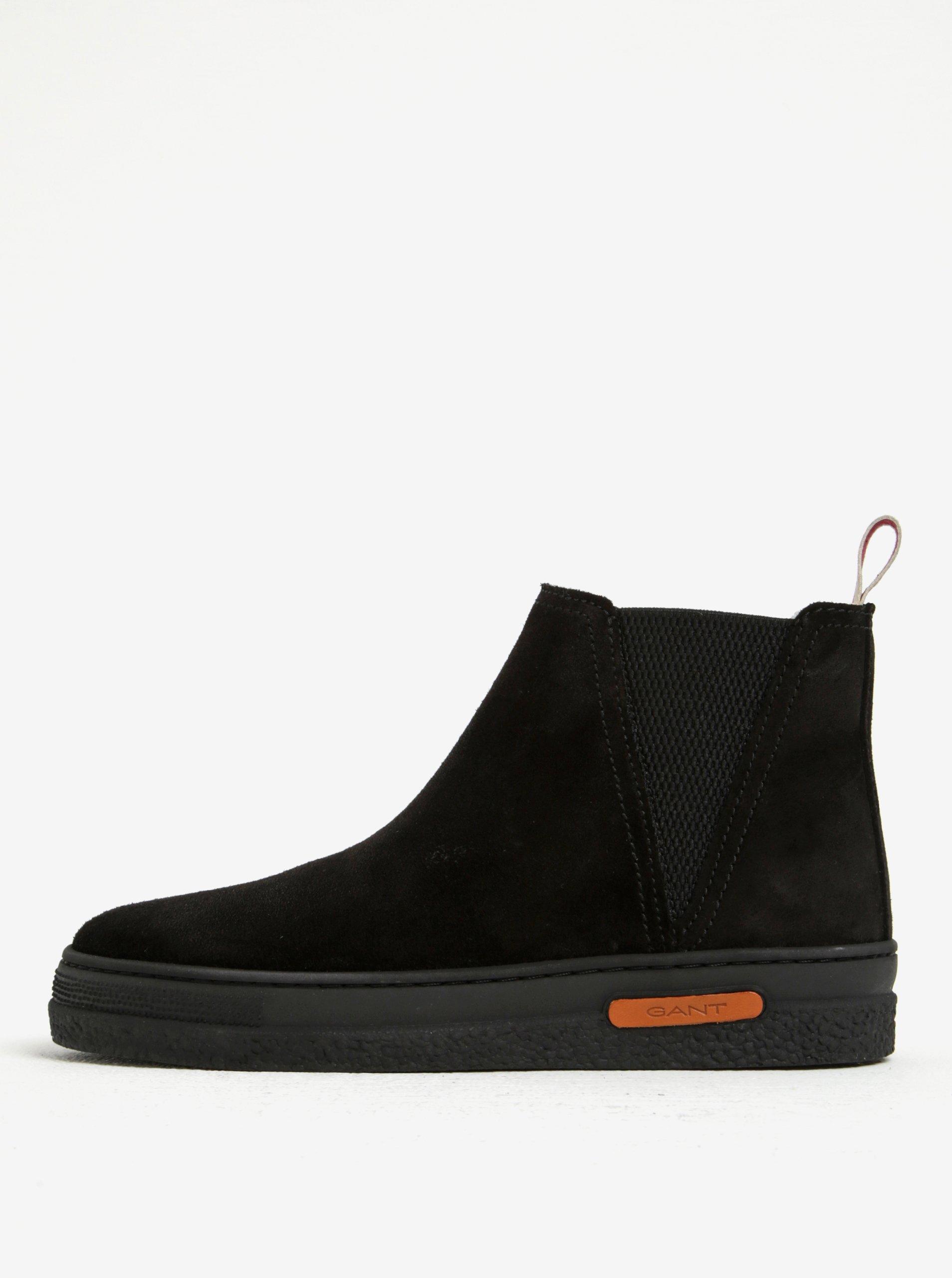 Černé dámské zateplené semišové chelsea boty GANT Maria