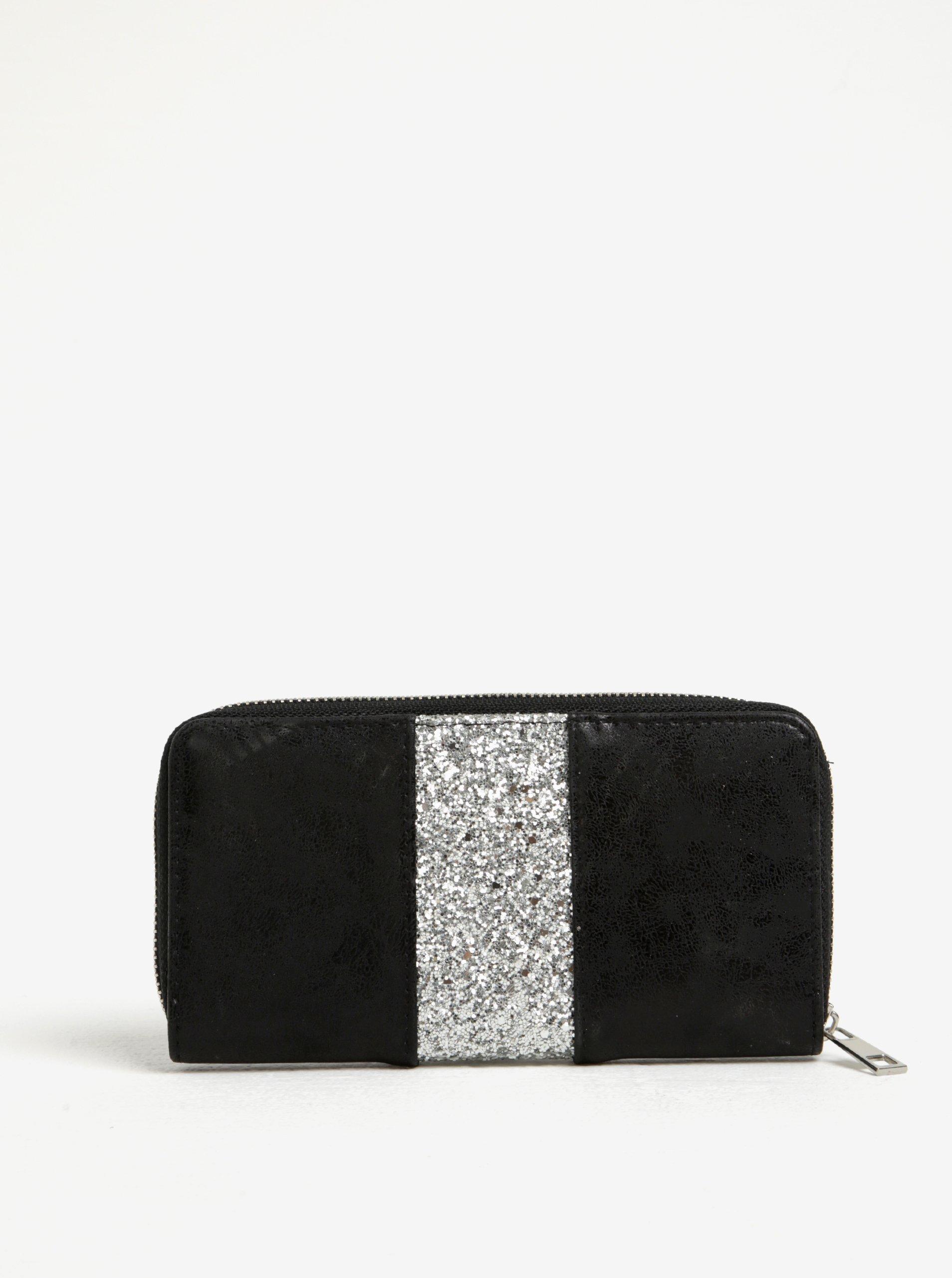 Černá peněženka s třpytivým detailem Haily´s Lina