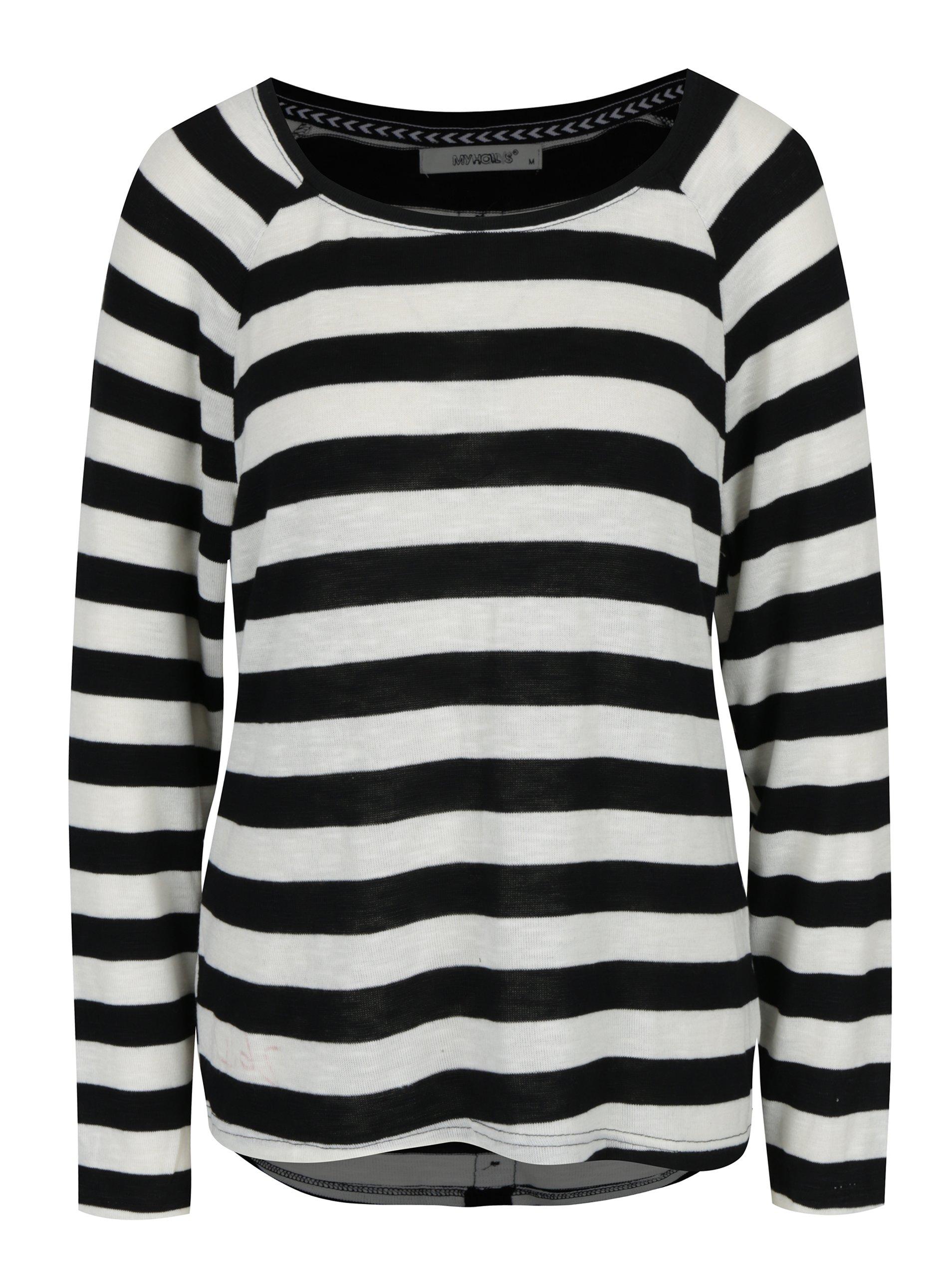 Černo-krémové pruhované tričko Haily´s Tamara