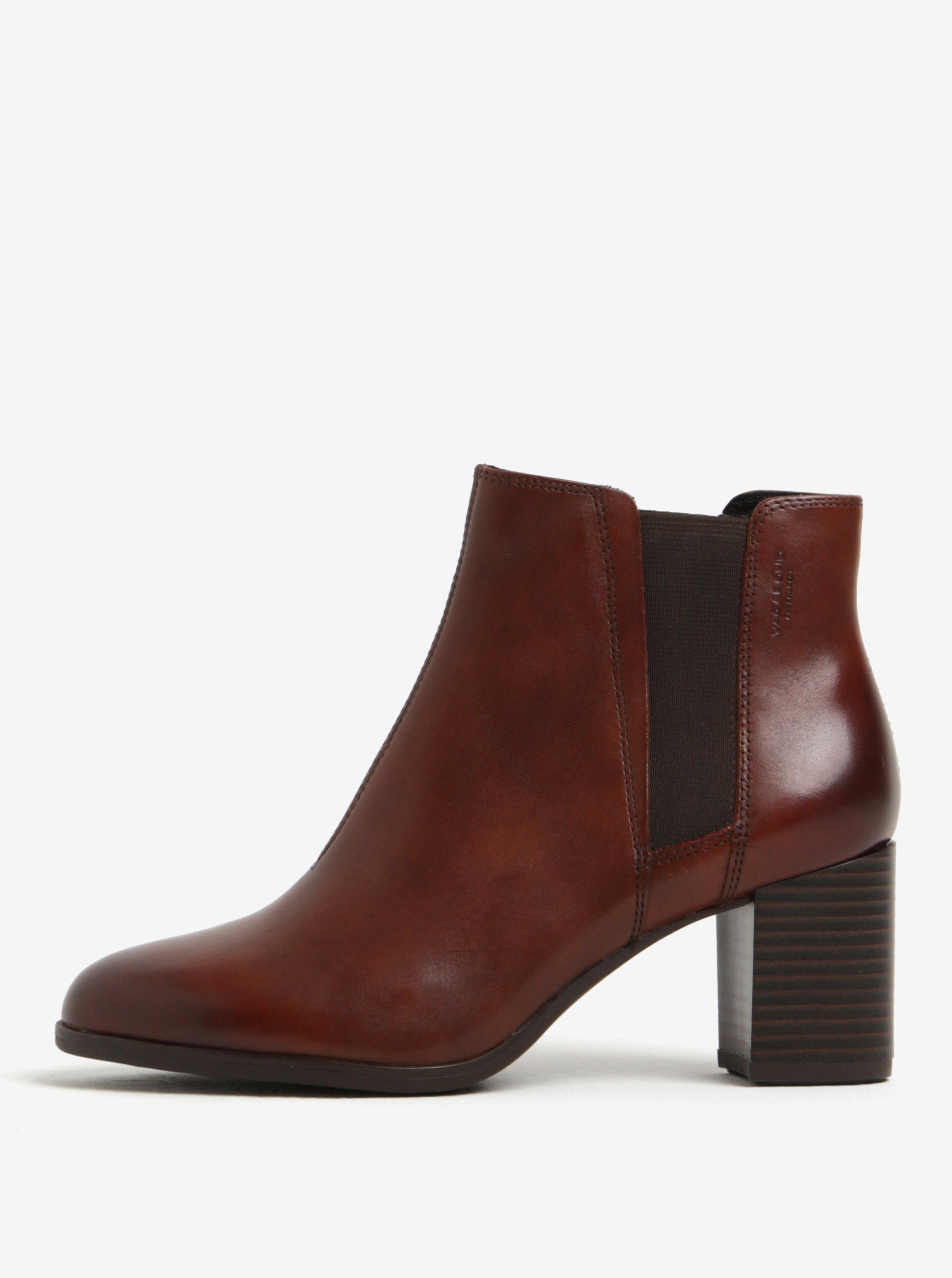Hnědé dámské kožené chelsea boty Vagabond Lottie