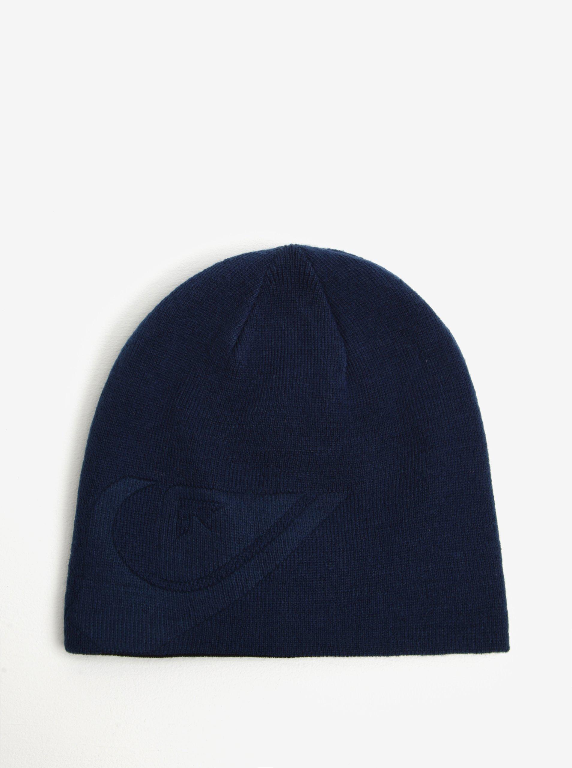 Černo-modrá pánská oboustranná čepice Quiksilver