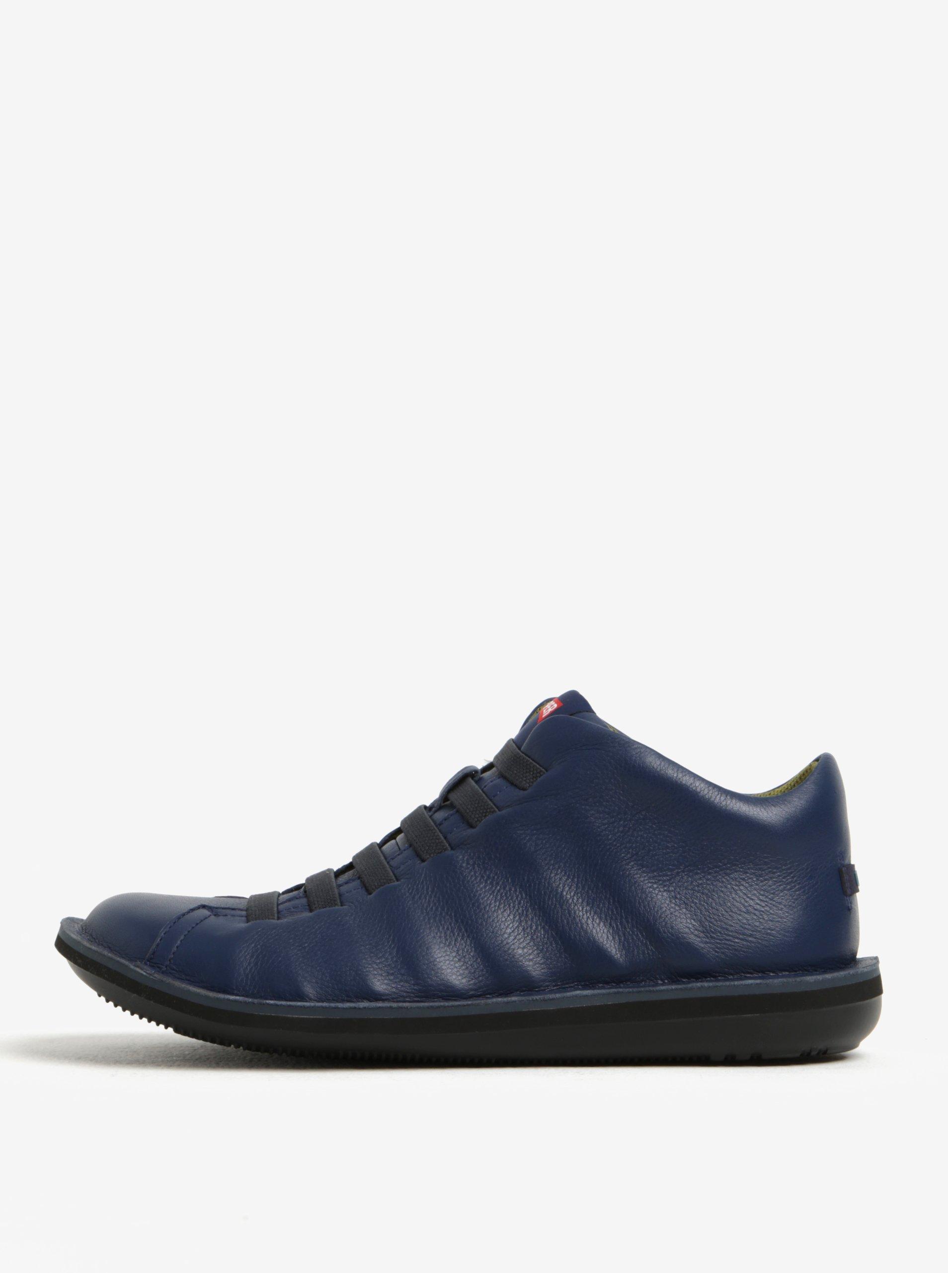 Tmavě modré pánské kožené tenisky Camper