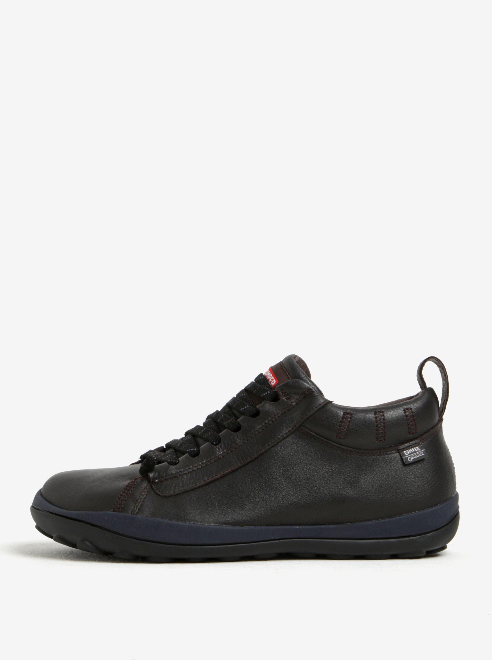 Tmavě hnědé pánské kožené boty Camper