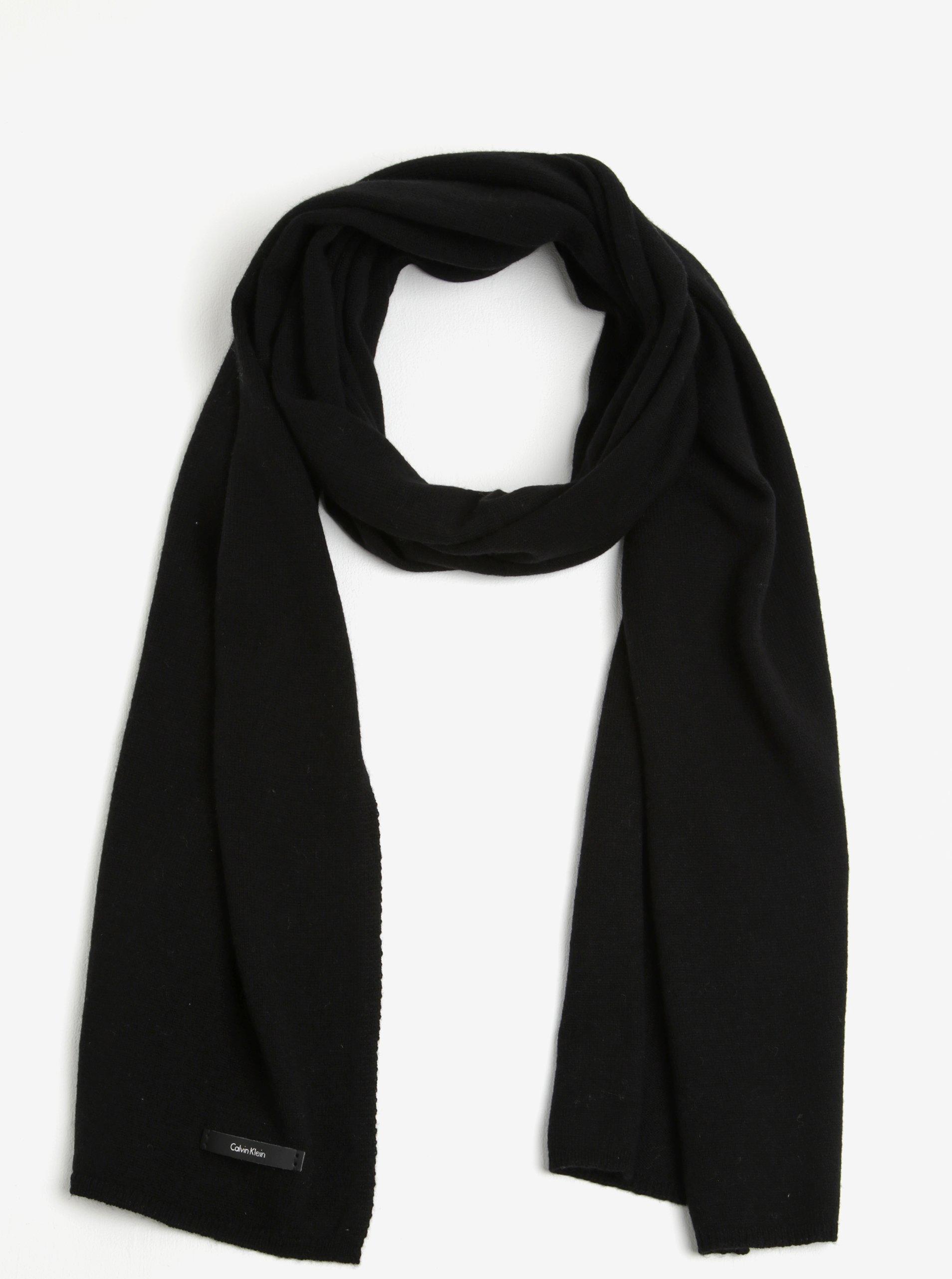 Černá dámská kašmírová šála Calvin Klein Sylvia