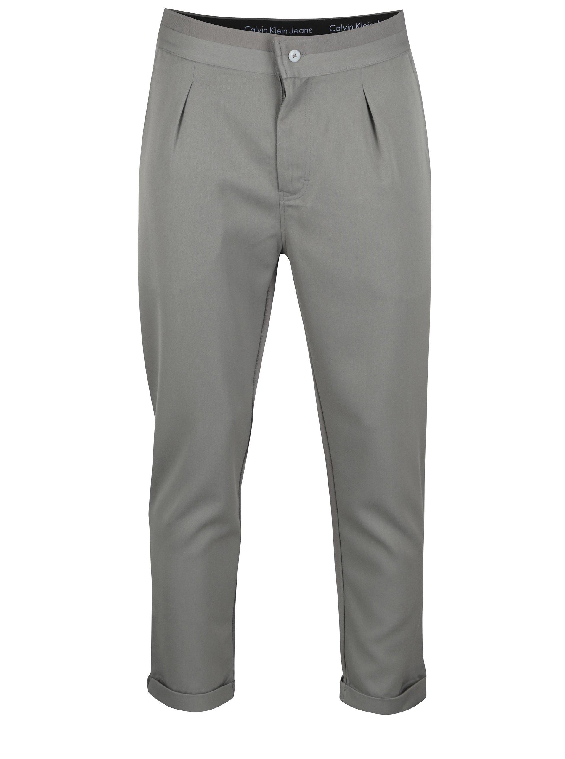 Fotografie Šedé pánské kalhoty Calvin Klein Jeans Galf