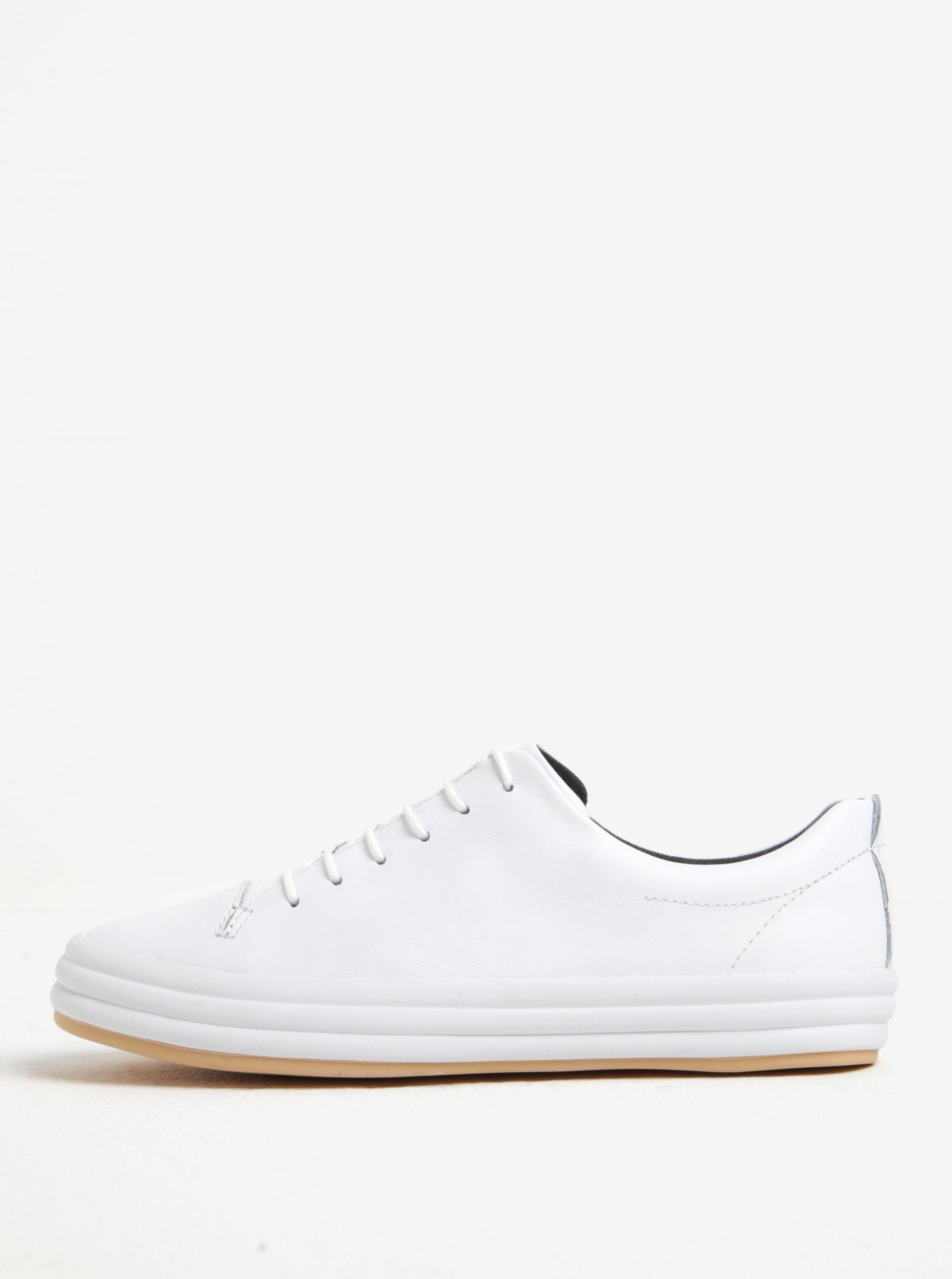 Bílé dámské kožené nízké tenisky Camper