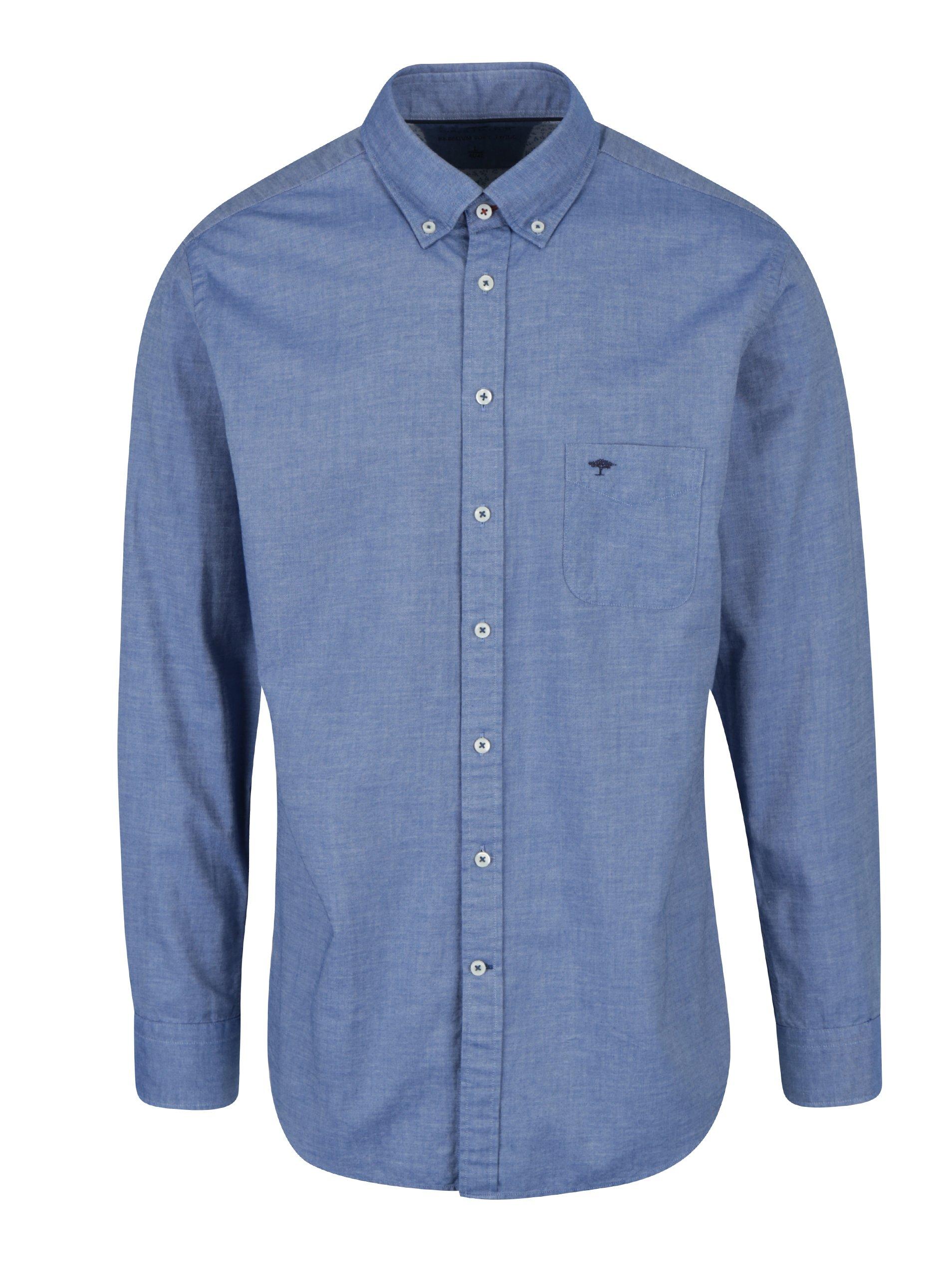 Modrá košile s náprsní kapsou Fynch-Hatton