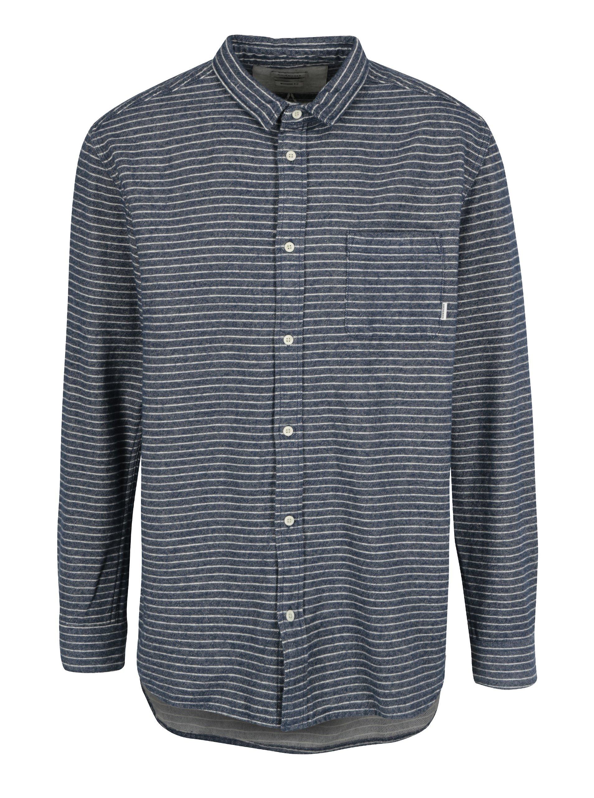 Modrá pánská flanelová modern fit košile Quiksilver