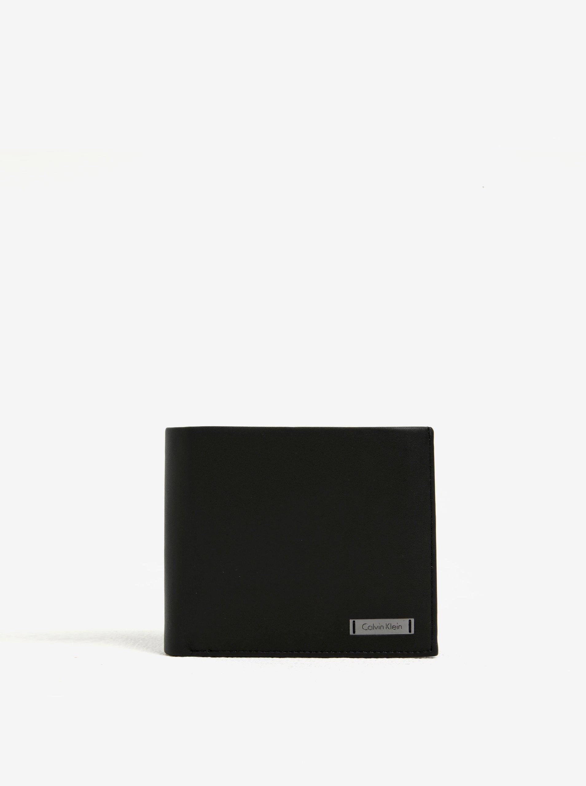 Čierna pánska kožená peňaženka v darčekovej škatuľke Calvin Klein Jeans  Andrew 1b7d09d9573