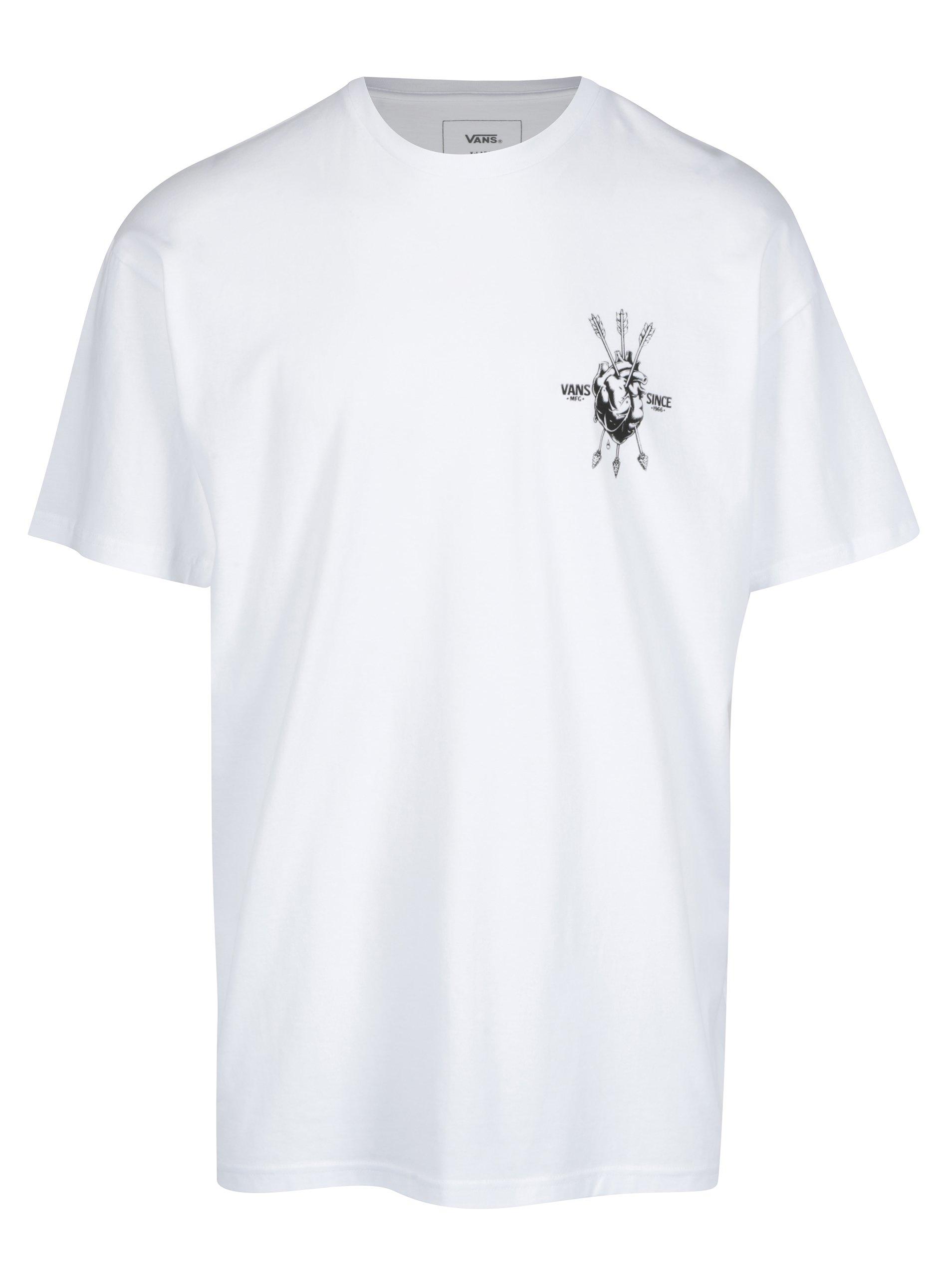 Bílé pánské classic fit tričko s potiskem VANS Open heart