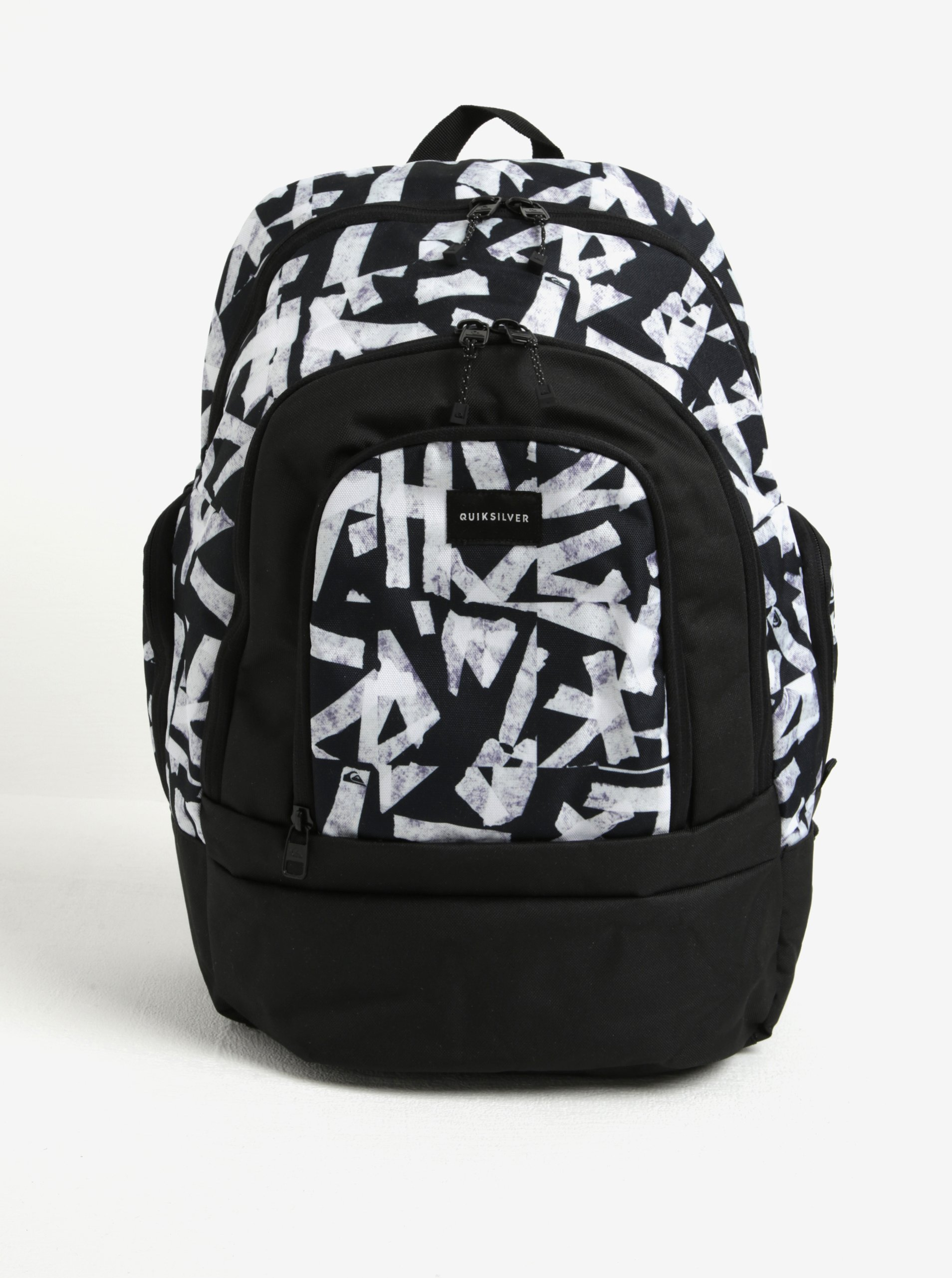 Černý vzorovaný pánský batoh Quiksilver 28l
