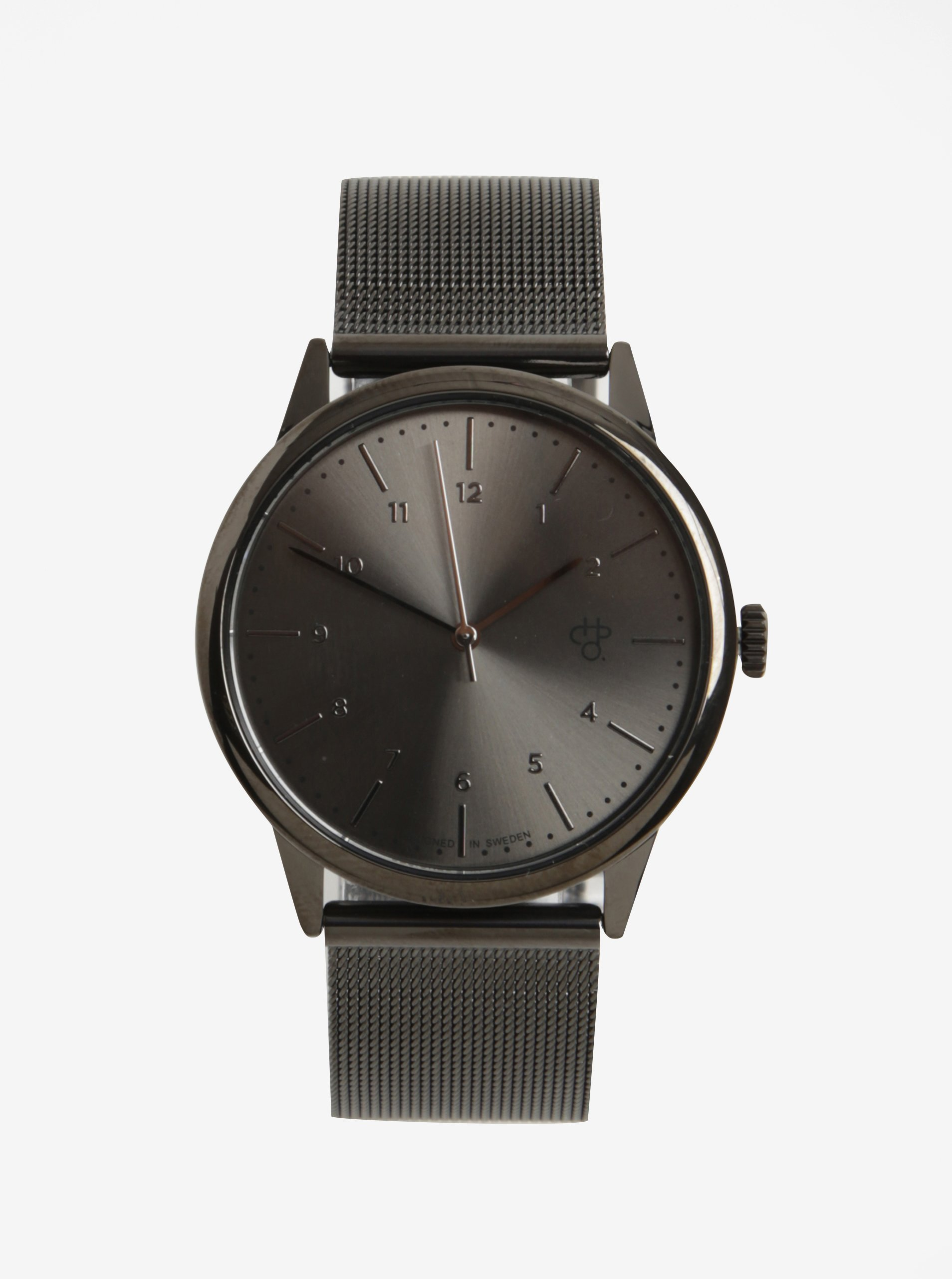 Černé unisex hodinky s nerezovým páskem CHPO Rawiya