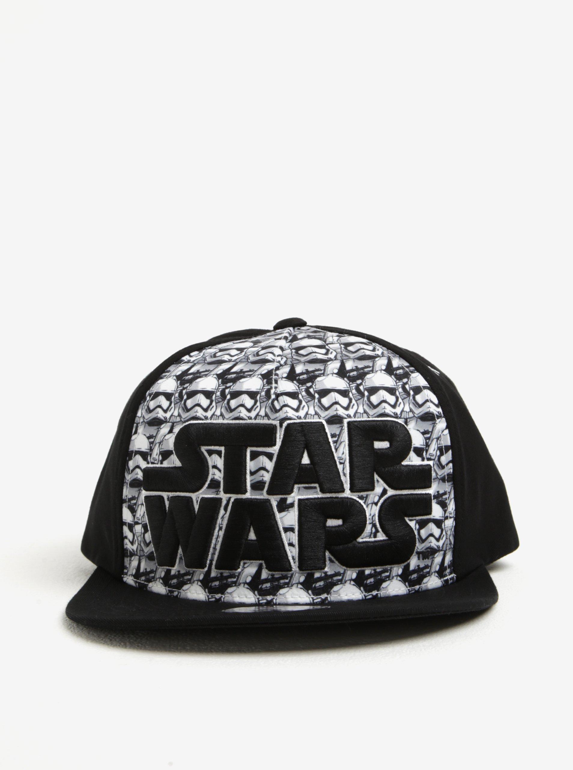 Černo-bílá vzorovaná pánská kšiltovka Star Wars