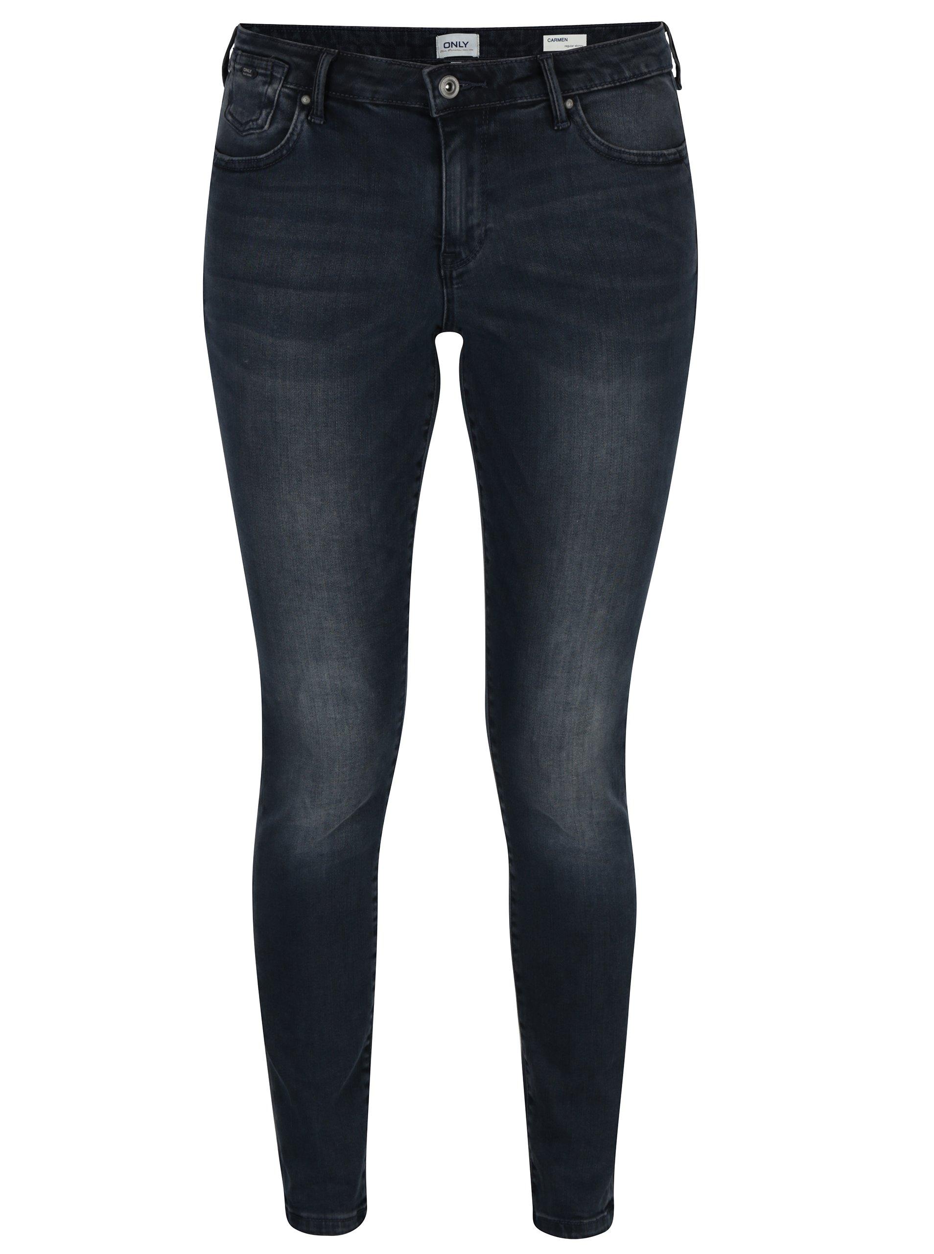 Tmavě modré skinny fit džíny ONLY Carmen