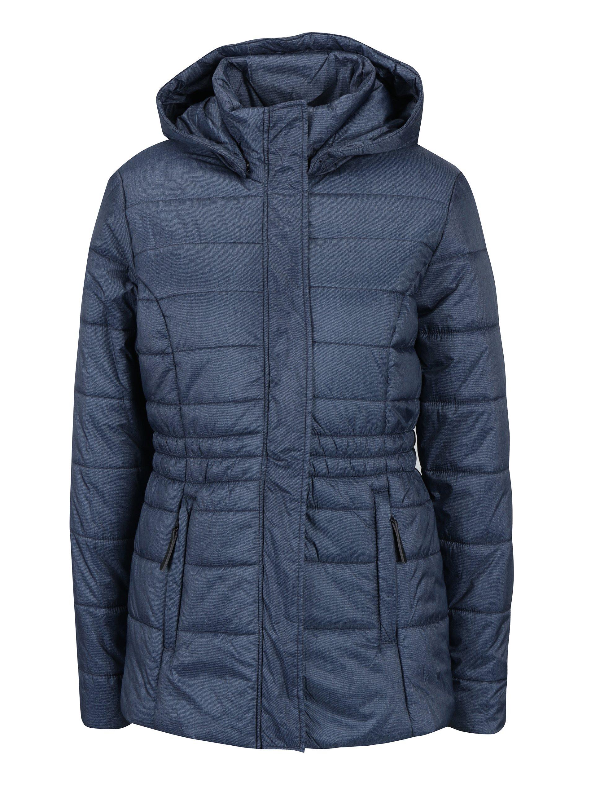 Modrá dámská zimní voděodolná prošívaná bunda LOAP Tabita