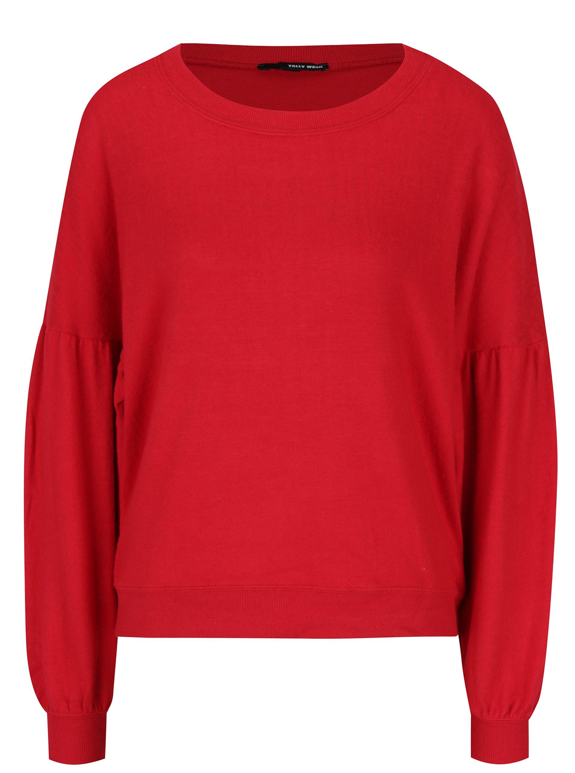 Červený volný svetr s netopýřími rukávy TALLY WEiJL