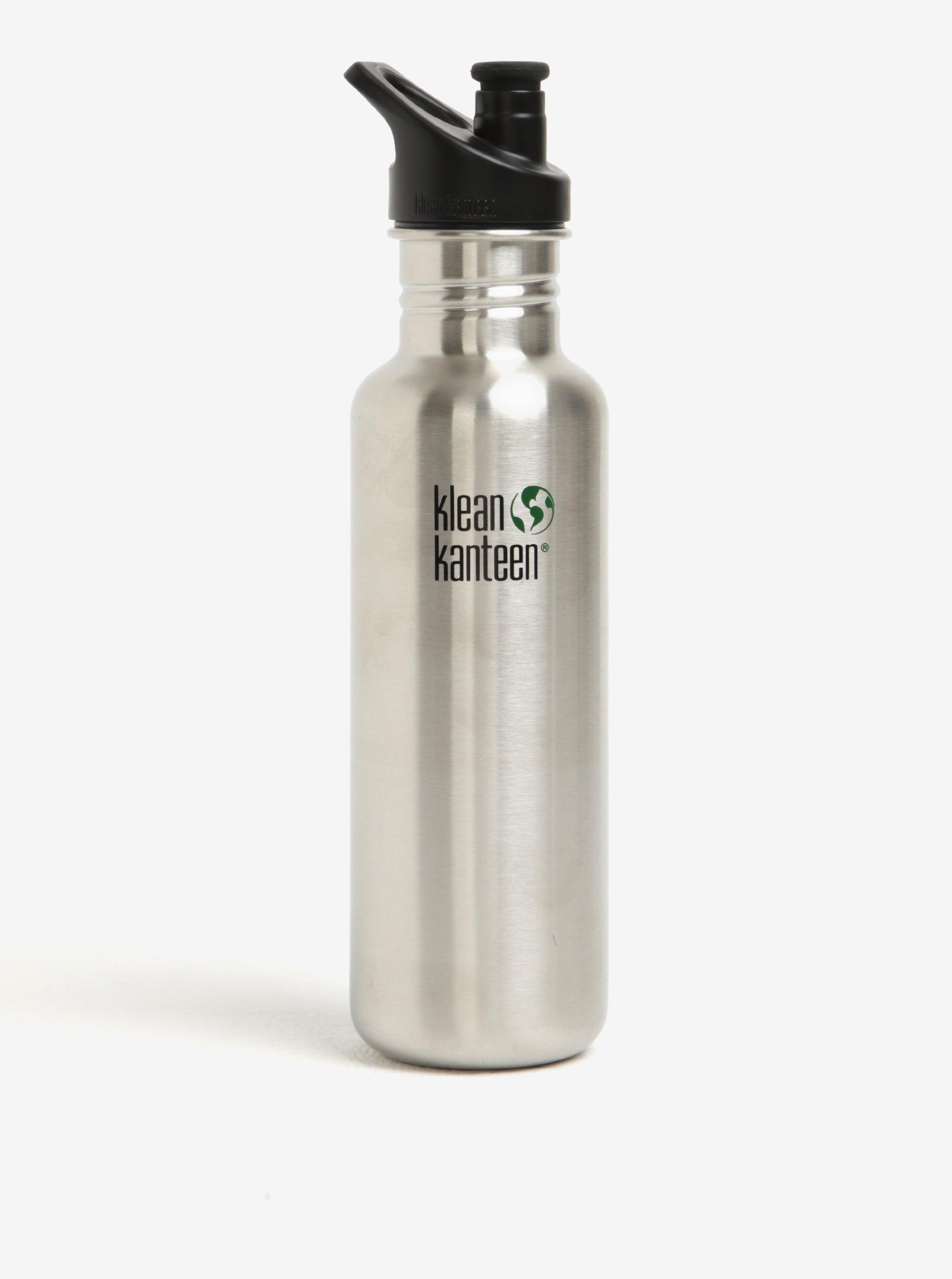 Nerezová lahev ve stříbrné barvě Klean Kanteen Classic 800 ml