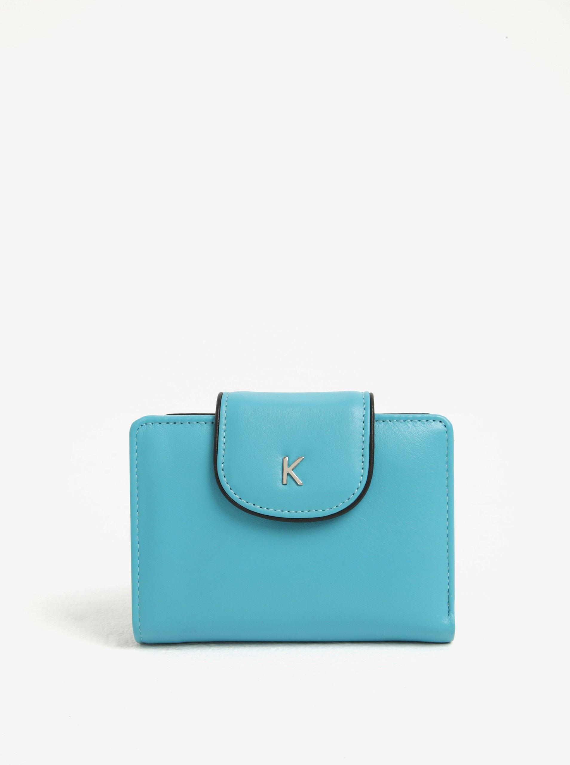 Tyrkysová dámská kožená peněženka KARA