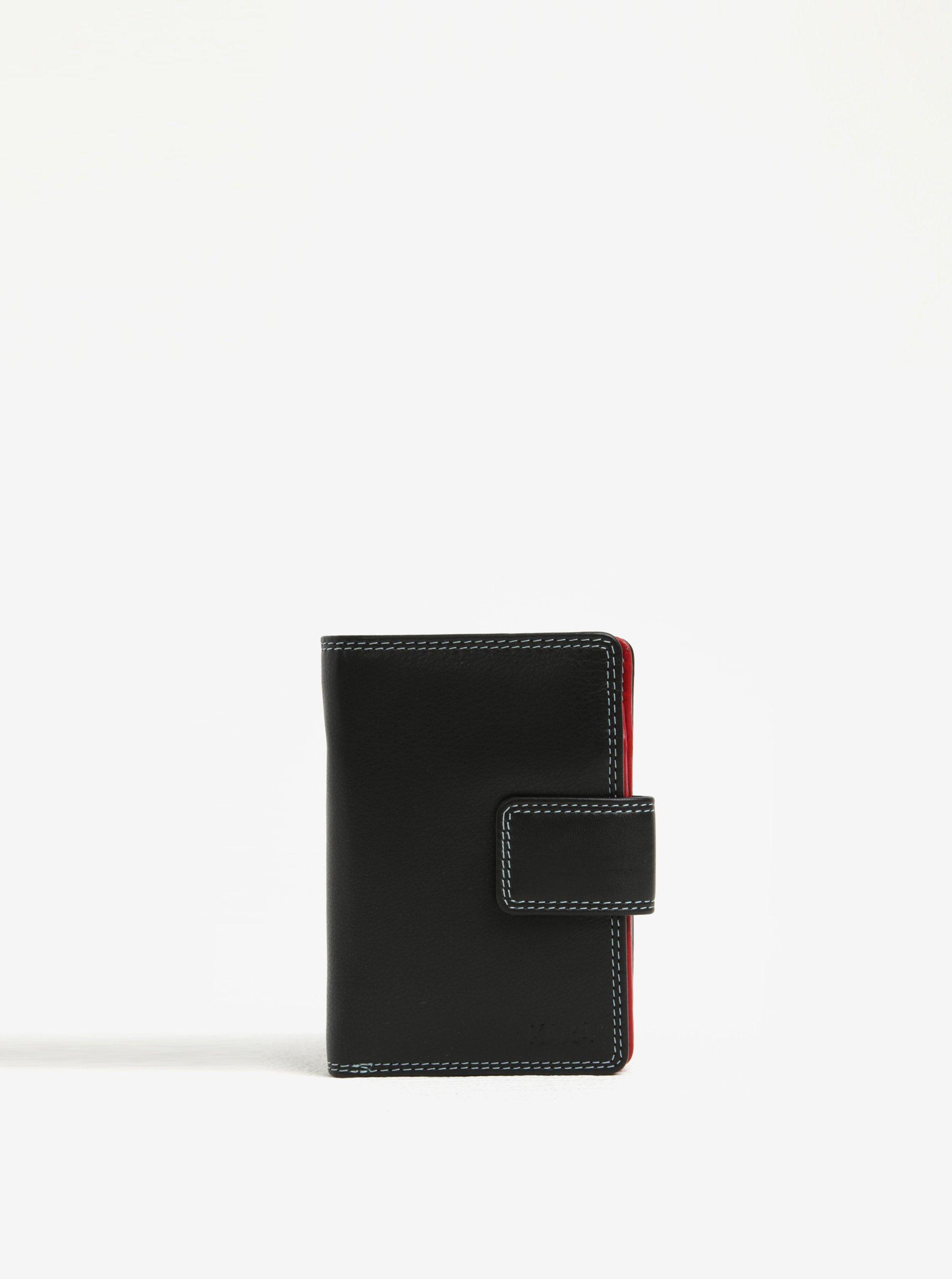 Černá dámská kožená peněženka KARA