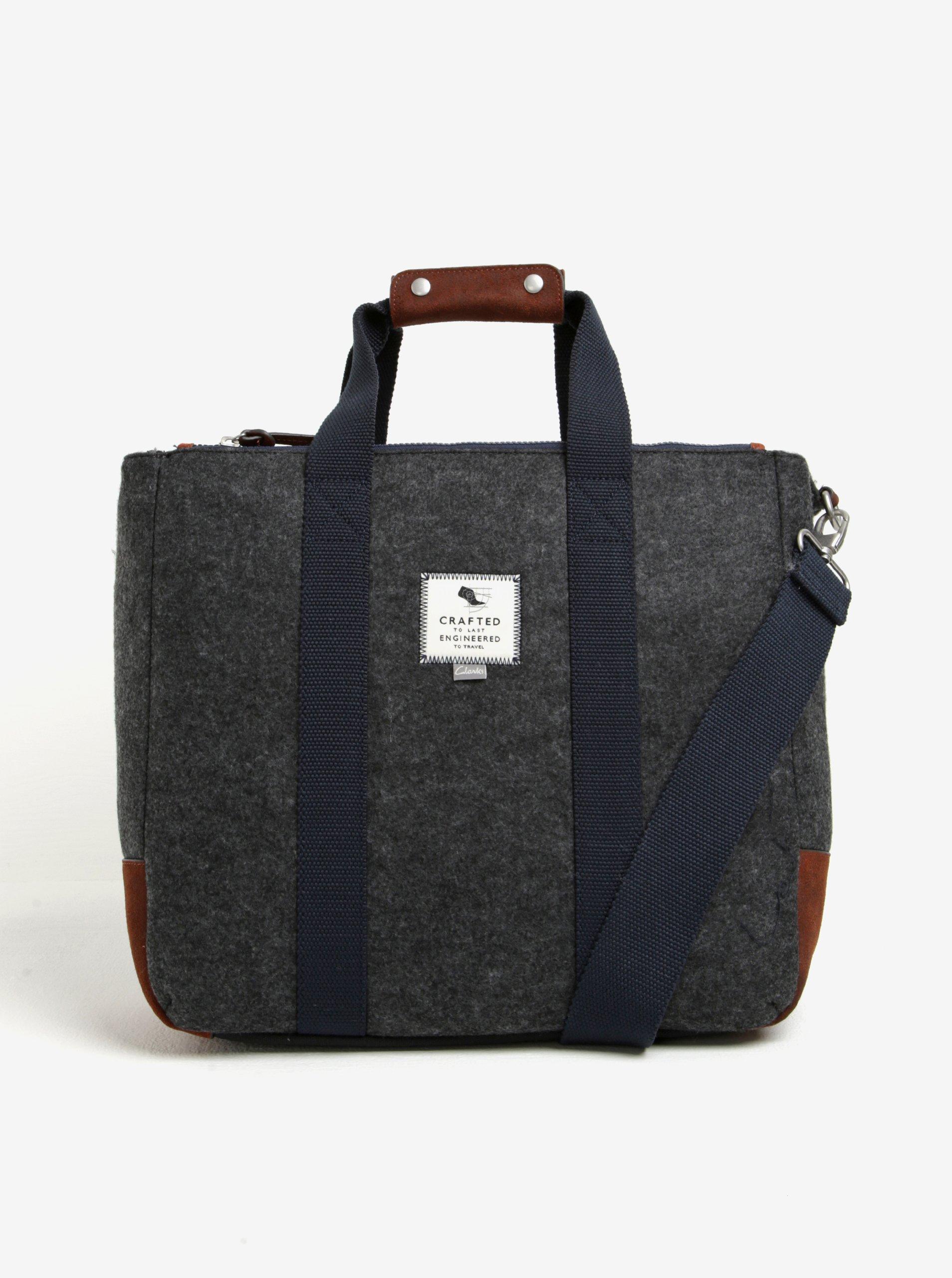 Šedá pánská taška Clarks The Gray