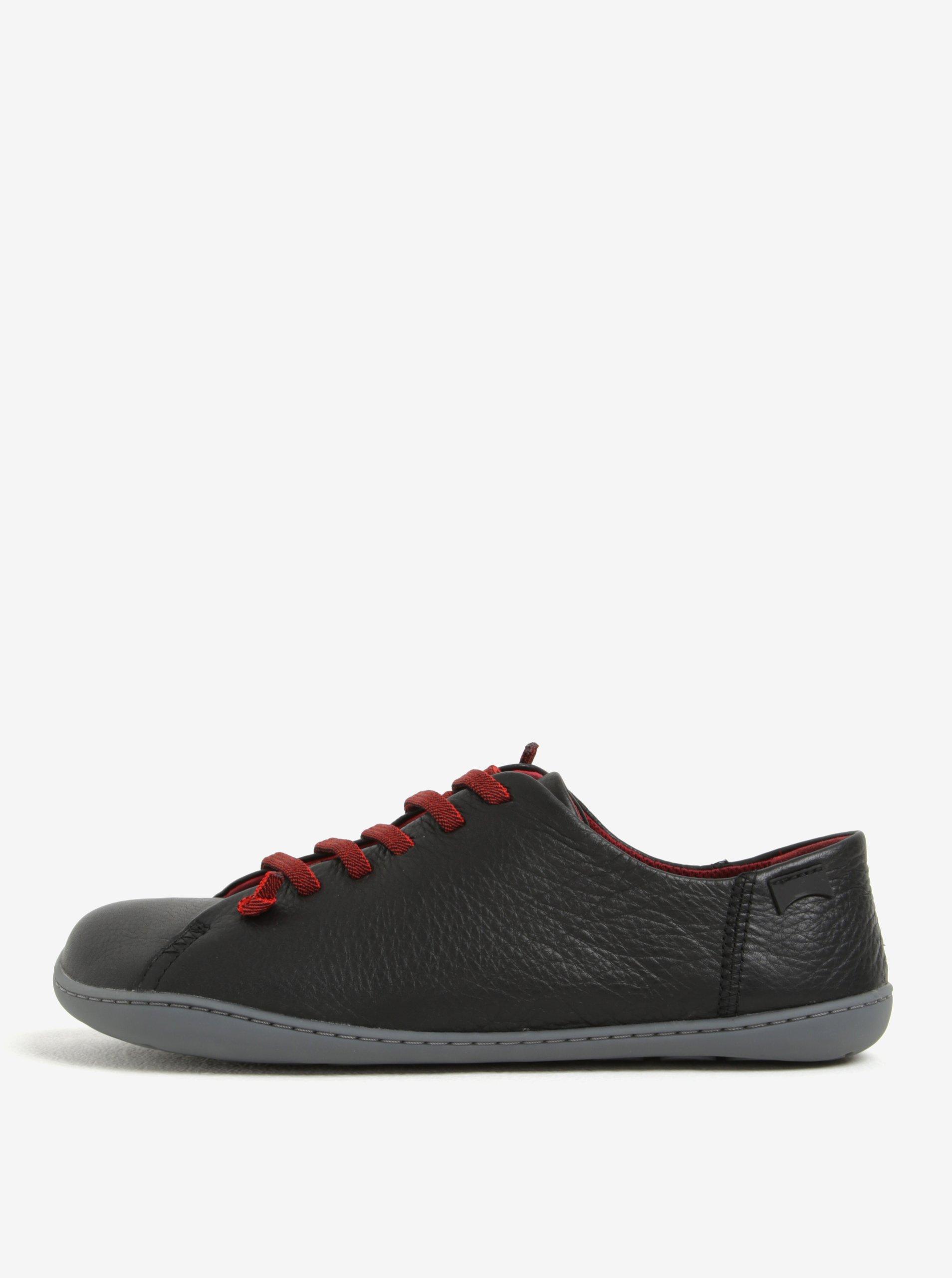 Černé pánské kožené tenisky Camper Sella