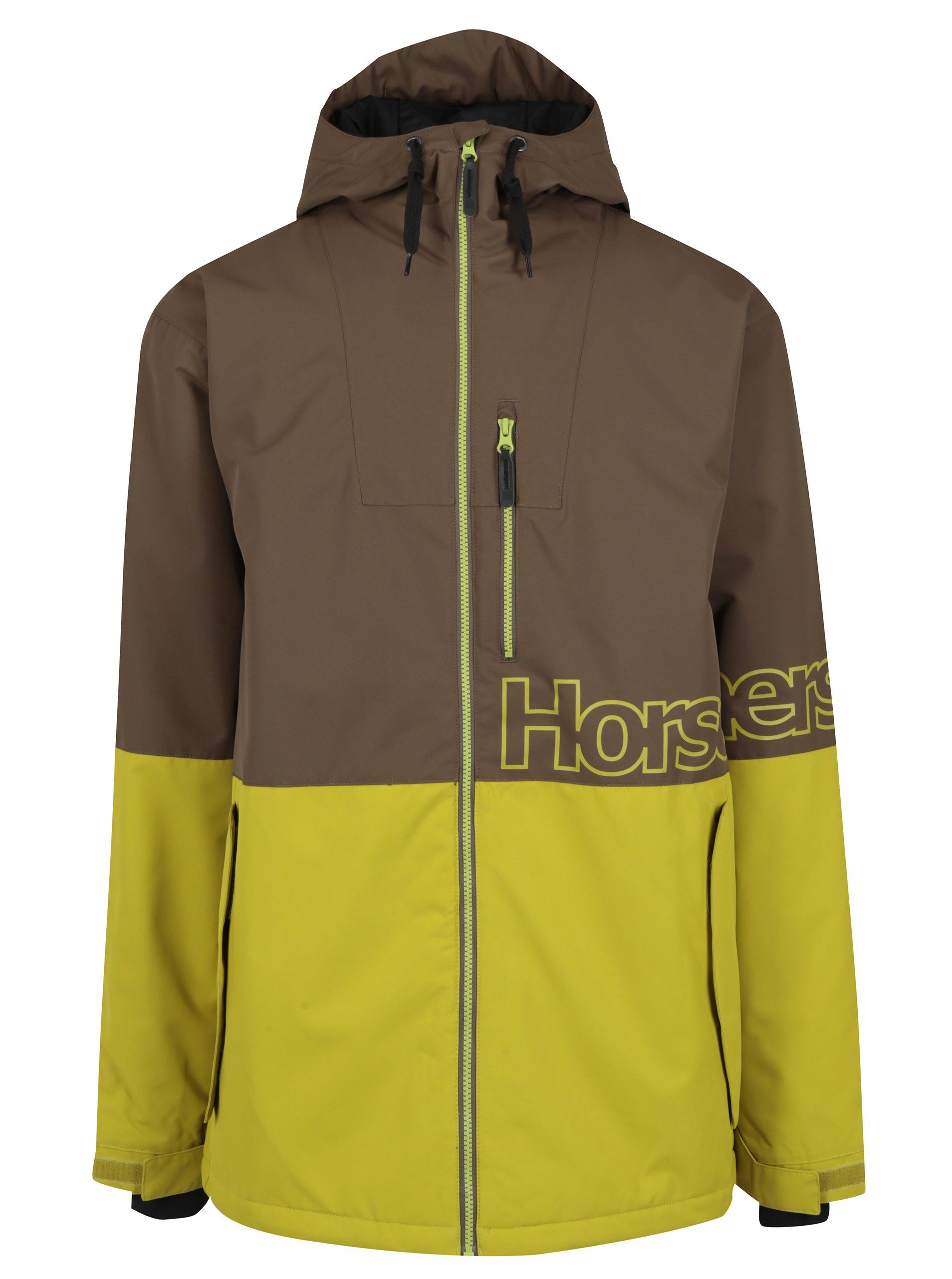 Žluto-hnědá pánská zimní bunda Horsefeathers Cline